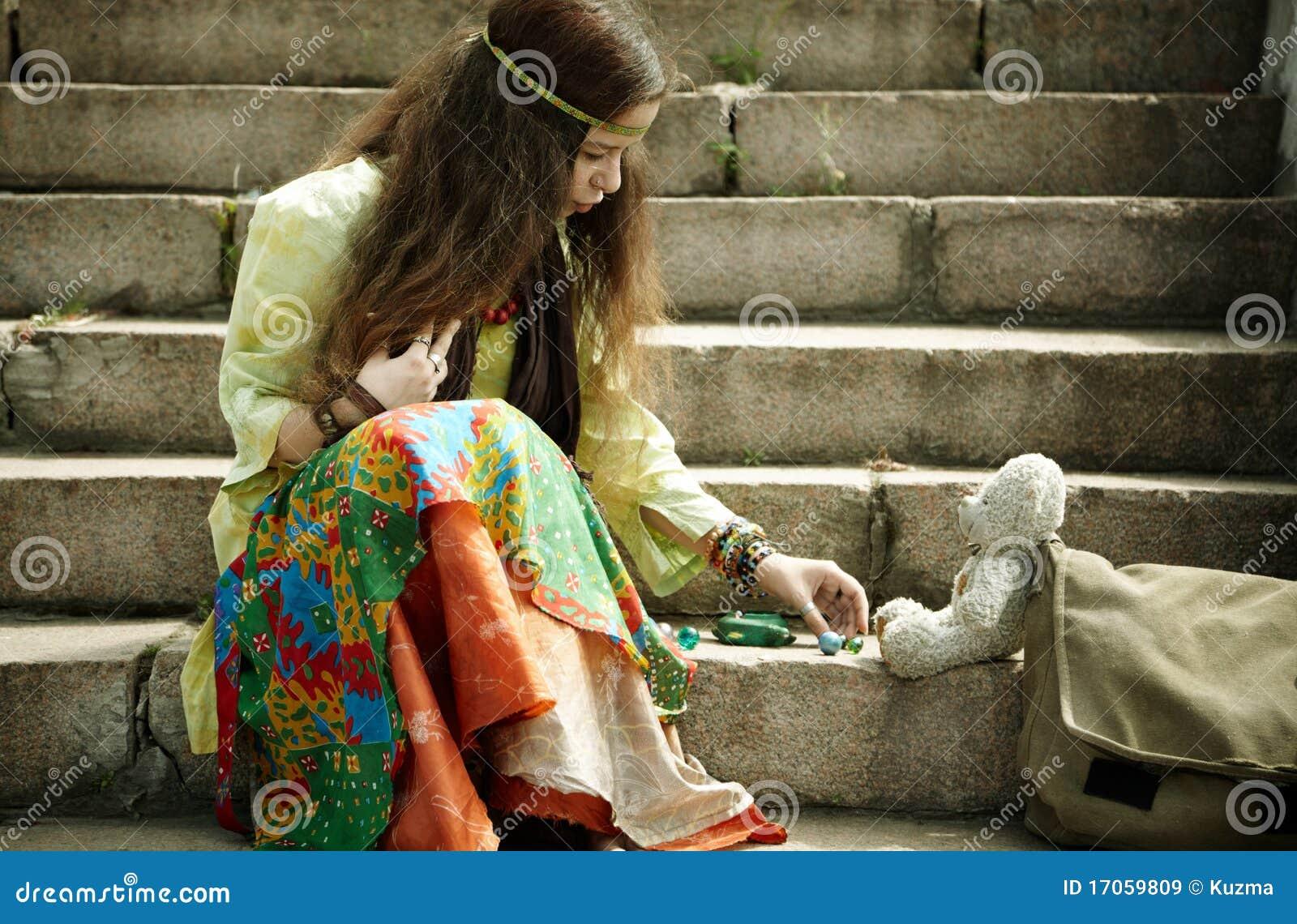 Hippie γυναίκα