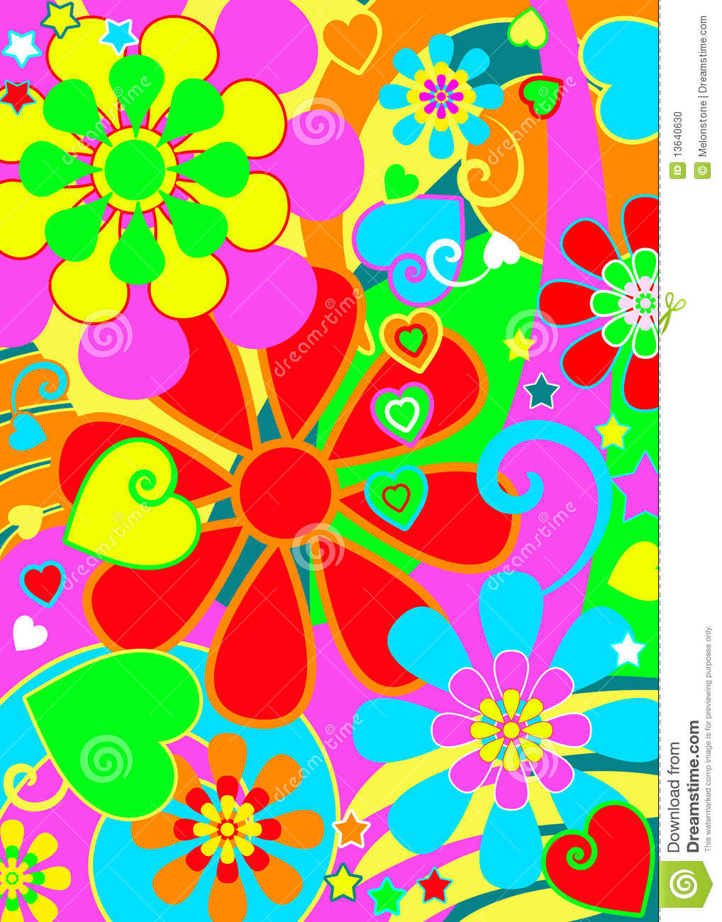 hippie chic flower power stock photo image 13640630 revival clip art in black and white revival clip art for churches