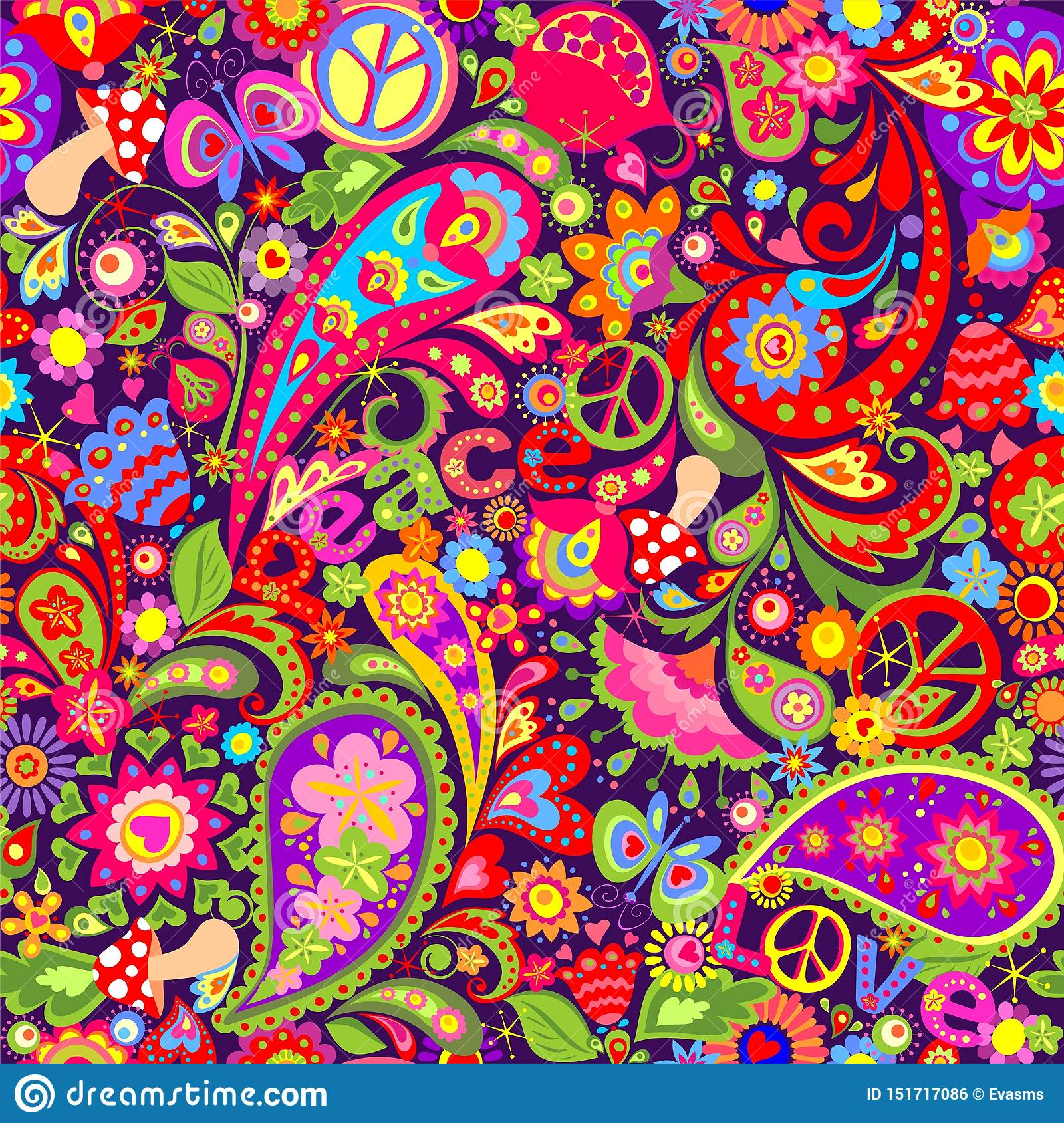 Wallpaper Of Peace: Flowers Peace Sign Wallpaper Stock Illustrations