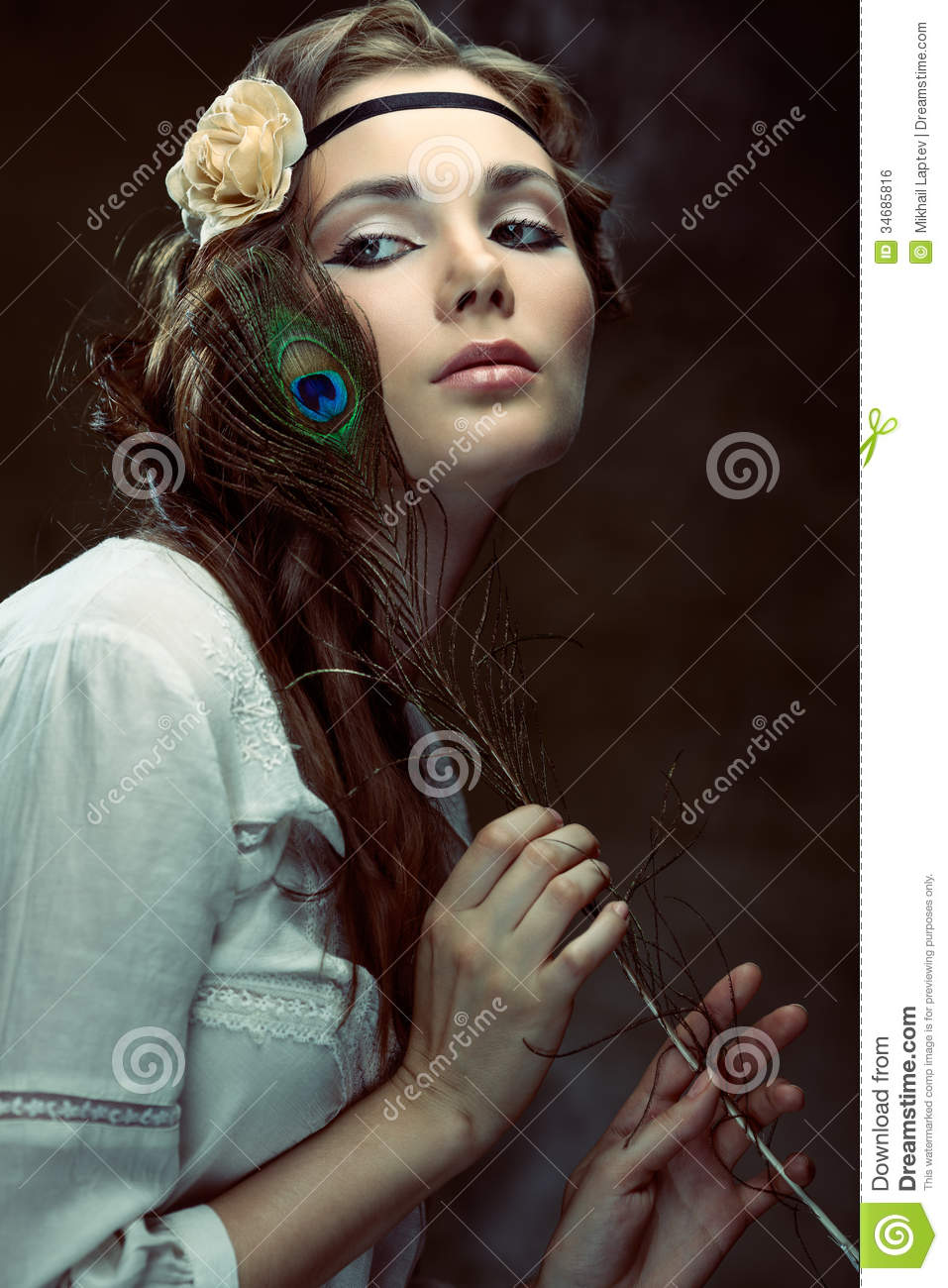 hippie girl royalty free stock image
