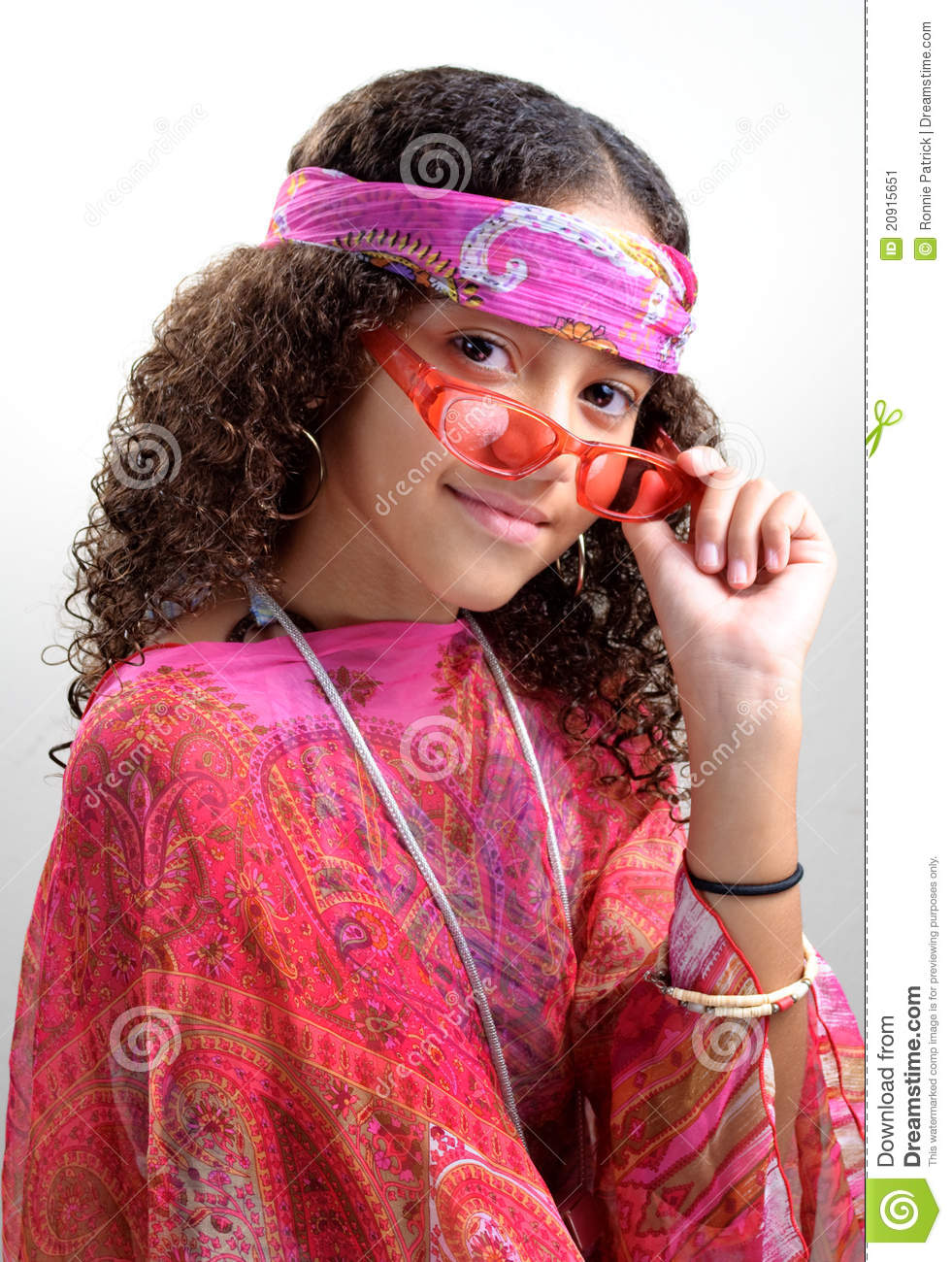 Hippie Girl Tipping Glasses Stock Image Image 20915651