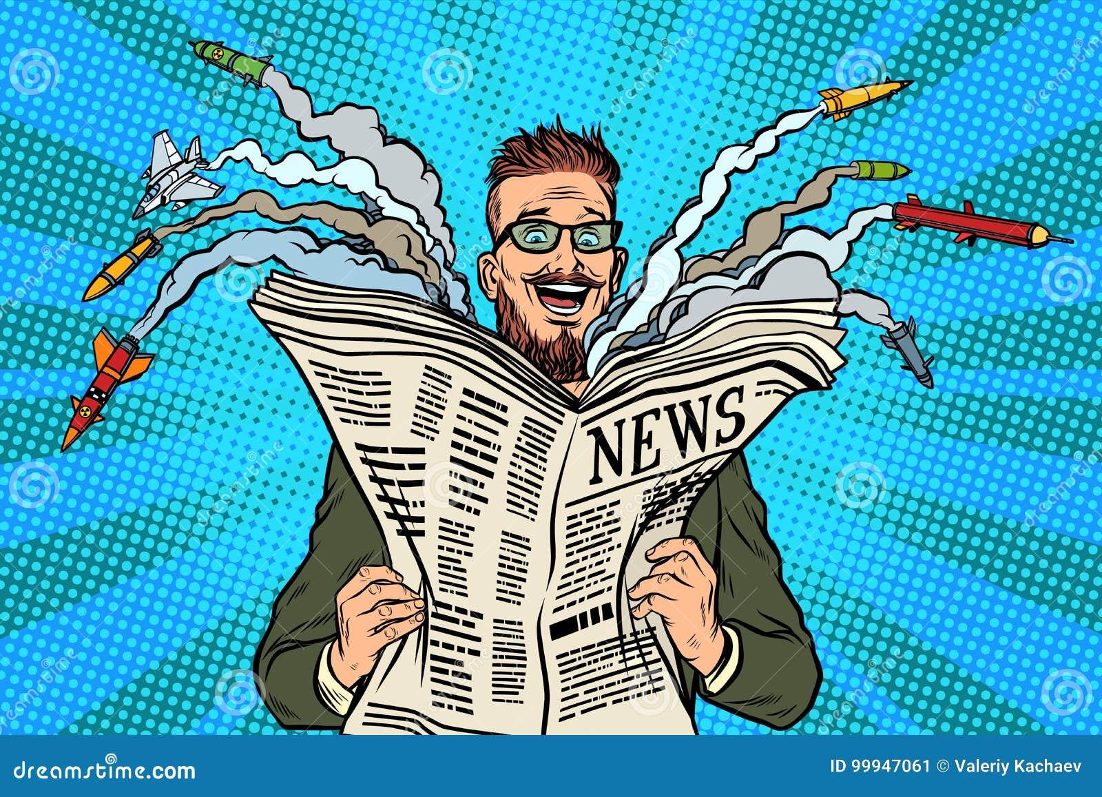 Hippie-glückliche Militärnachrichtenpapierzeitung