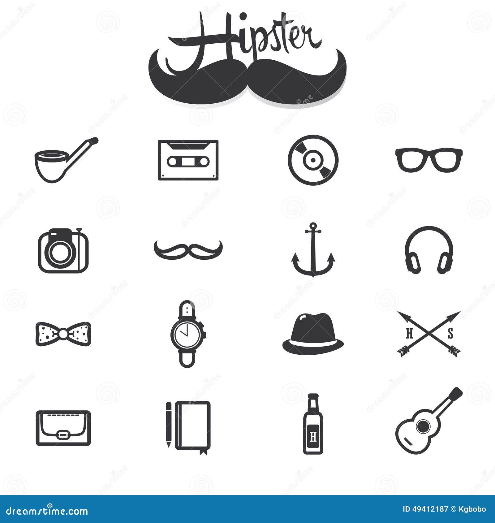 Download Hippie-Ikonen vektor abbildung. Illustration von gläser - 49412187