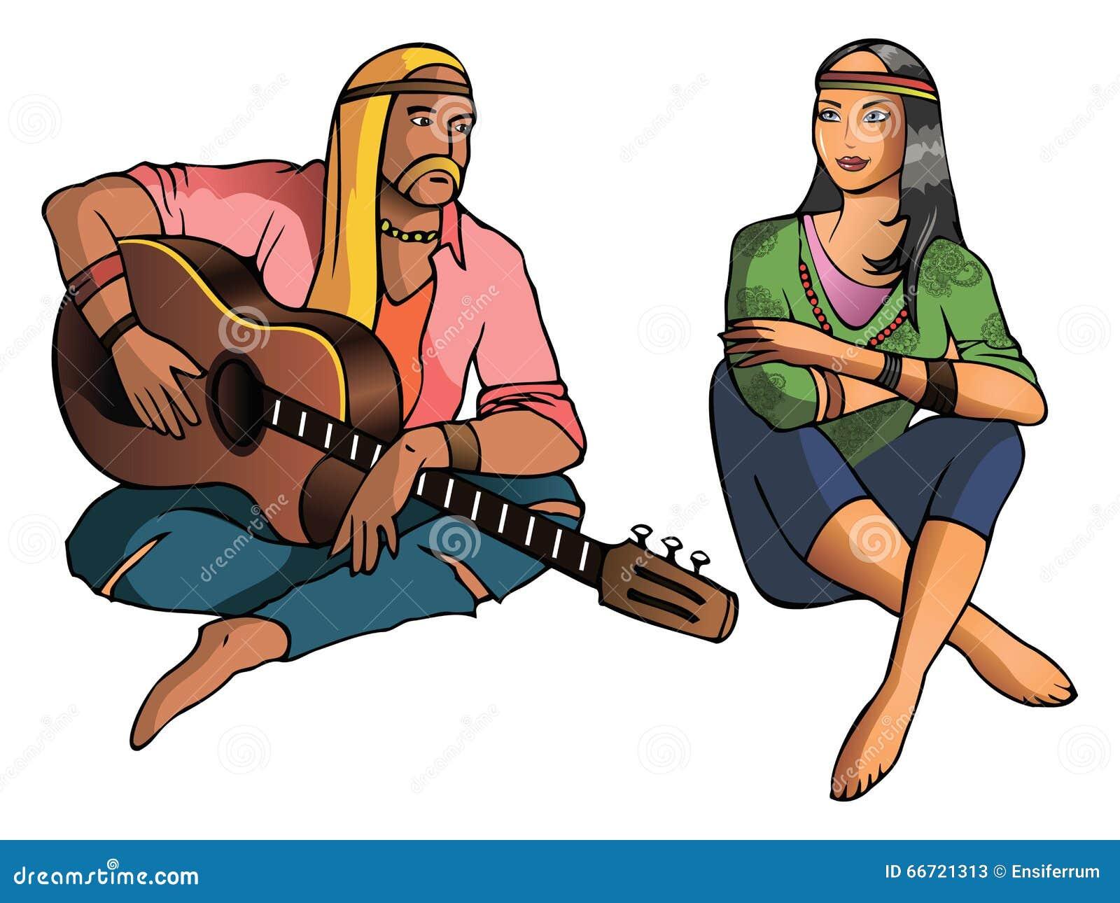 Hippie Stock Vector Image 66721313