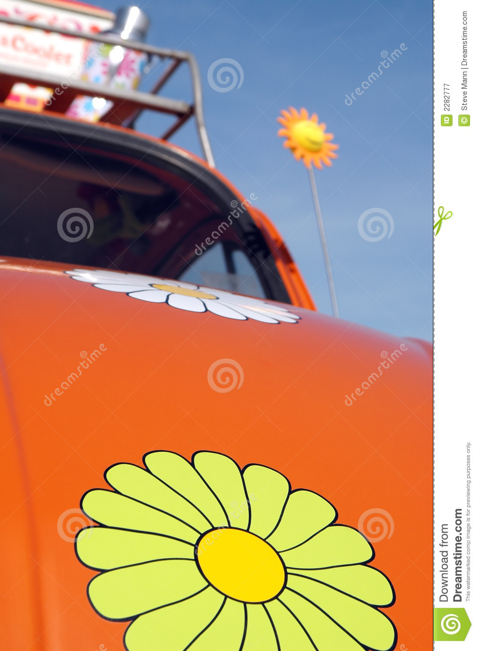 hippie road trip stock image image of daisy cars flower