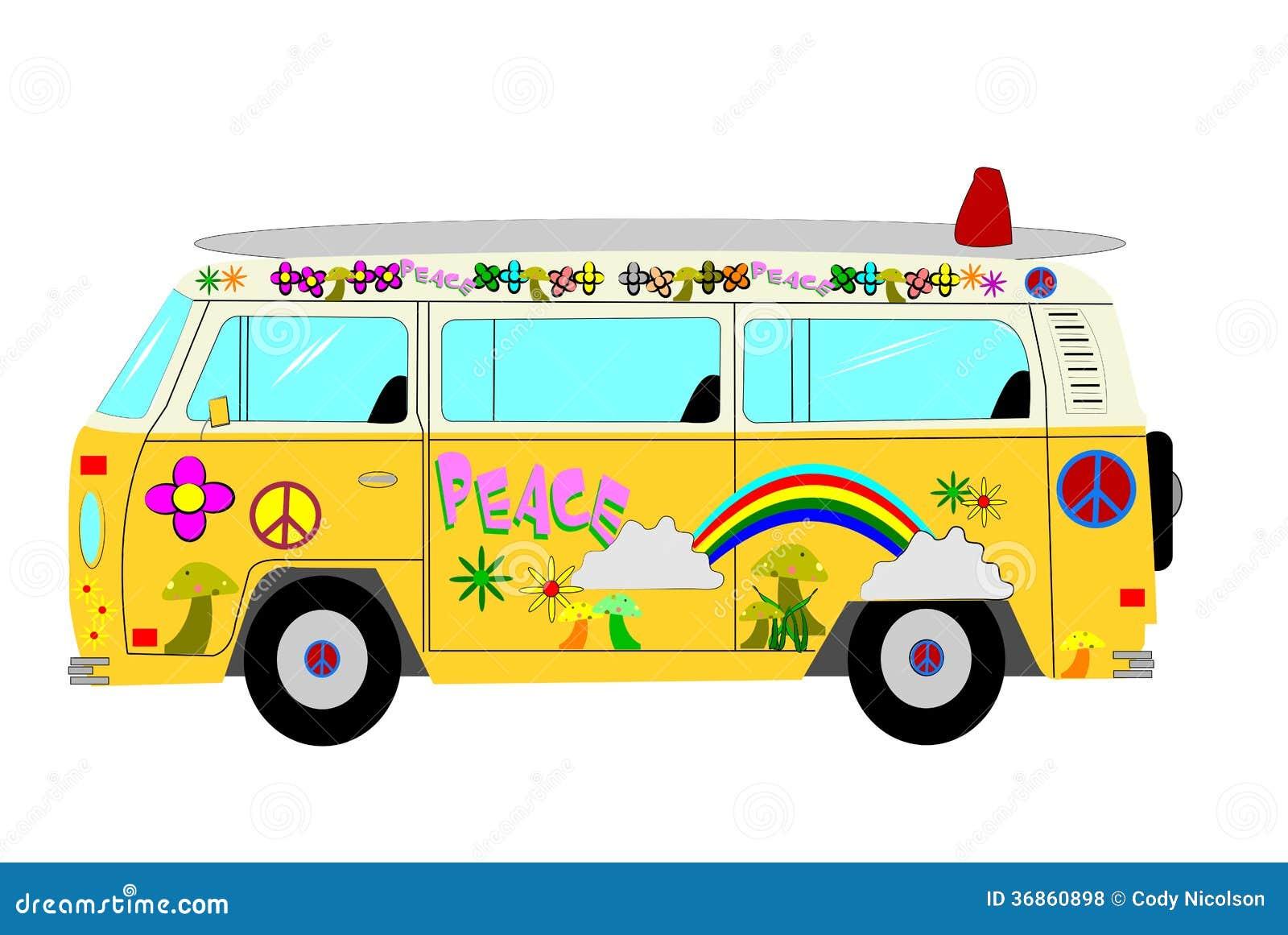 Hippie Van Stock Vector Image Of Home Decorations