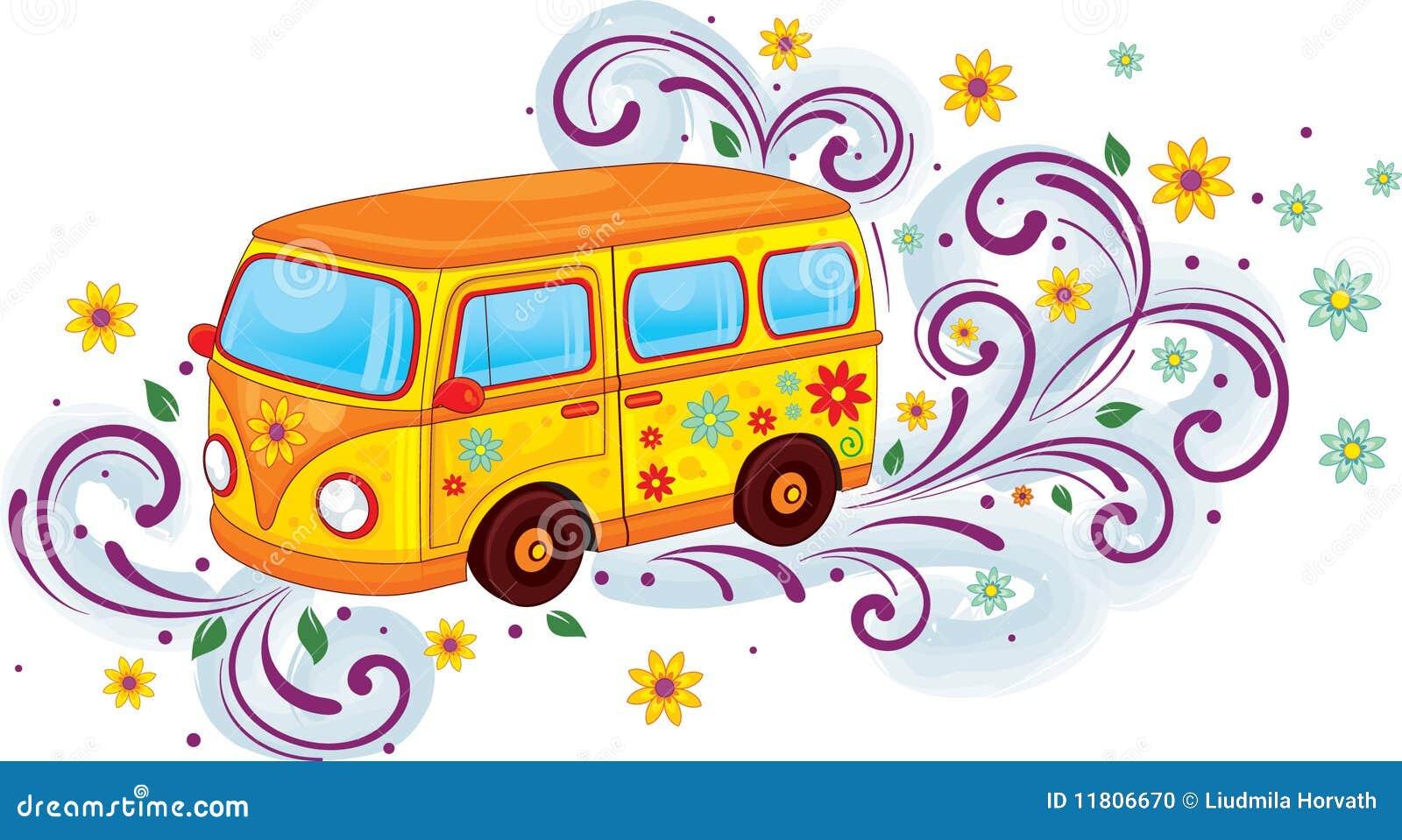 Hippiebus Stockfoto  Bild 11806670