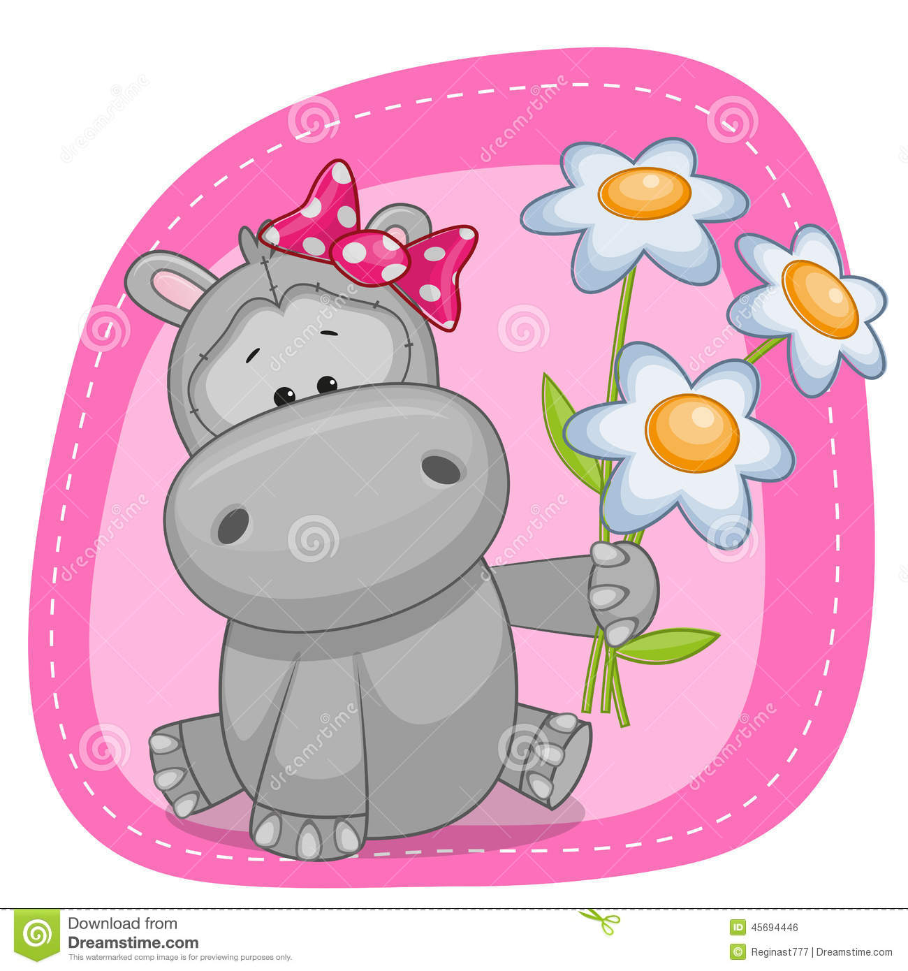 Hippo with flowers stock vector illustration of love 45694446 hippo with flowers love cartoons bookmarktalkfo Image collections