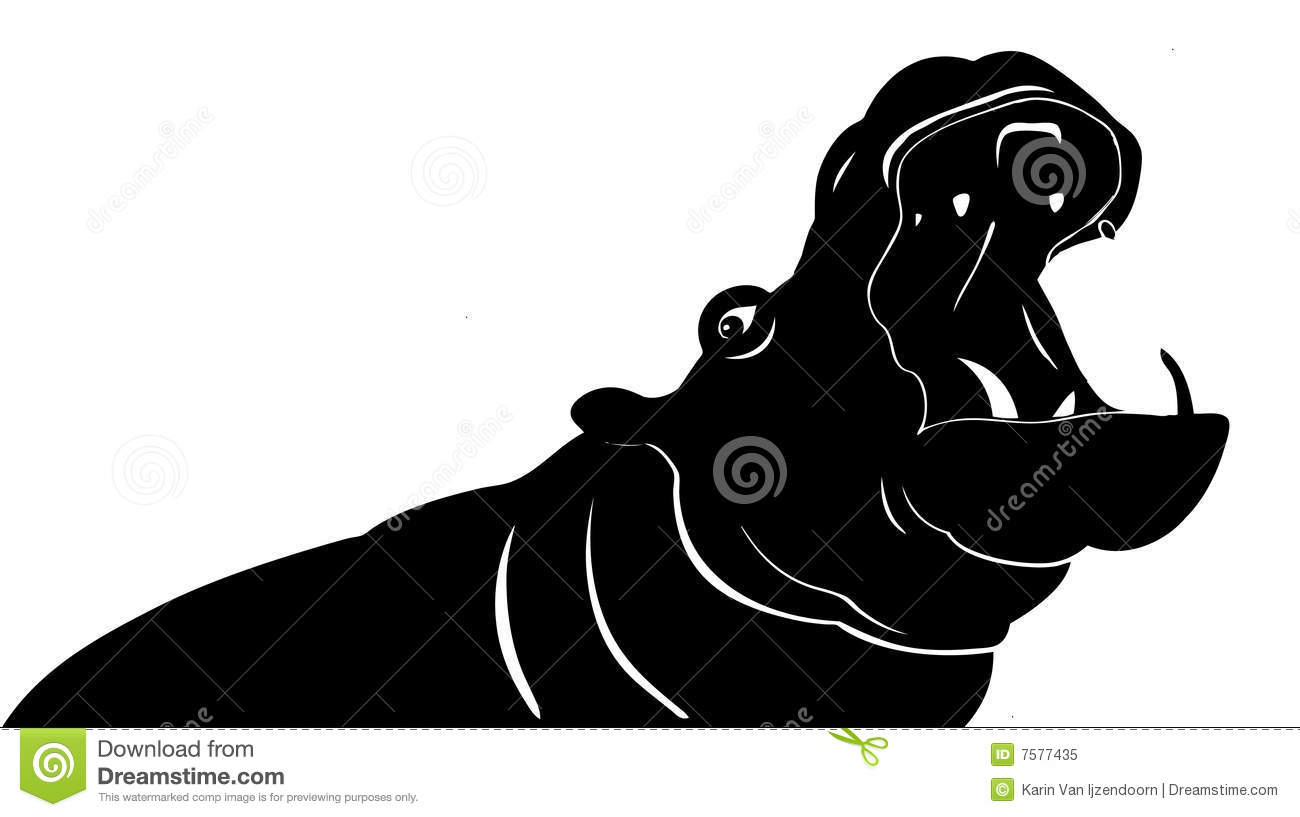 Hippo Yawning Illustration Royalty Free Stock Photo - Image: 7577435 Cyber Bullying Clipart