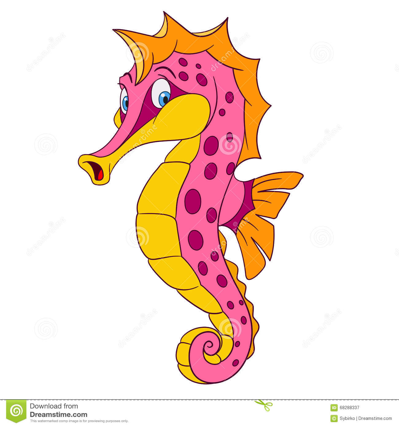 De Dessin Hippocampe Stock Illustrations Vecteurs Clipart