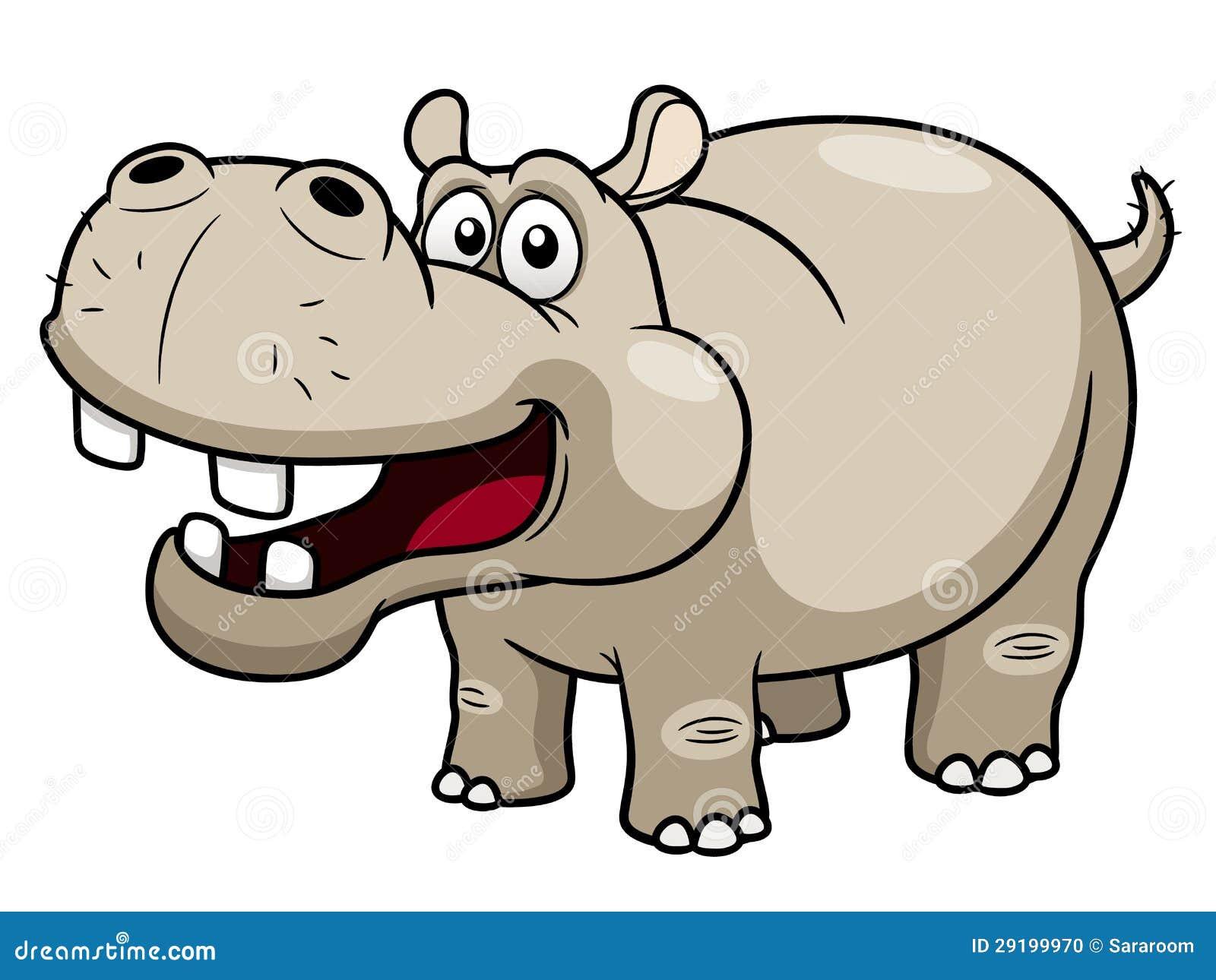 Hippopotamus dos desenhos animados