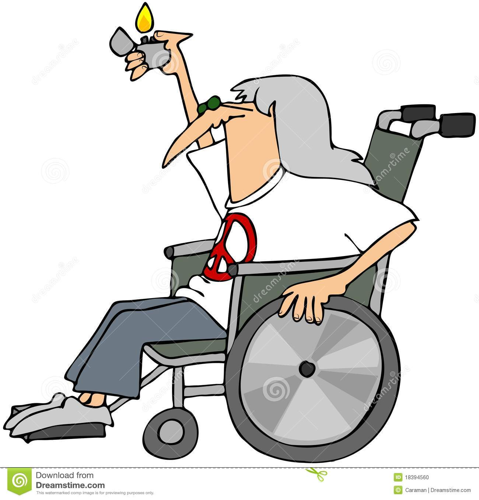 Hippy anziano in una sedia a rotelle illustrazione di for Vecchio in sedia a rotelle