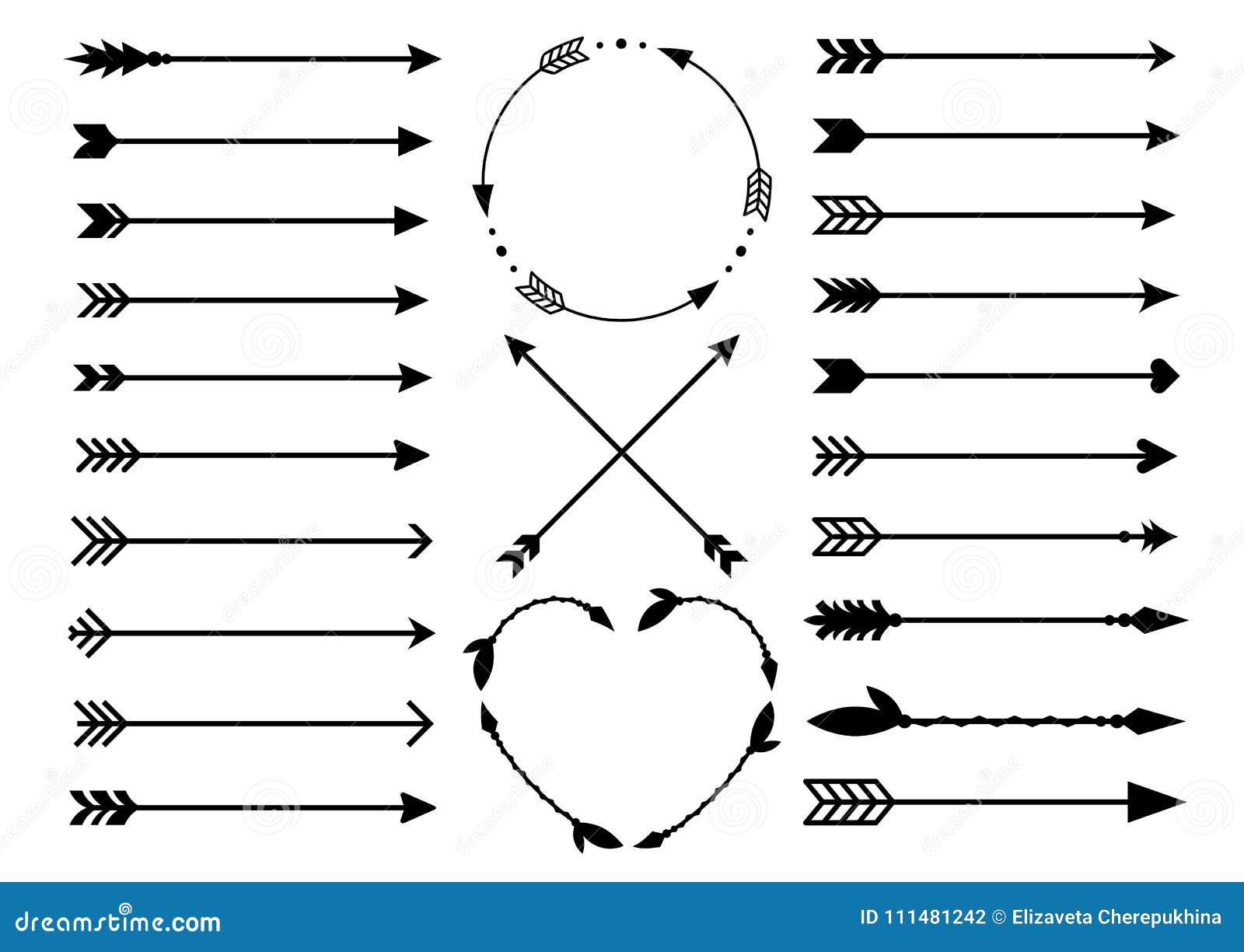 Hipster Arrows. Arrows In Boho Style. Criss Cross Tribal ...