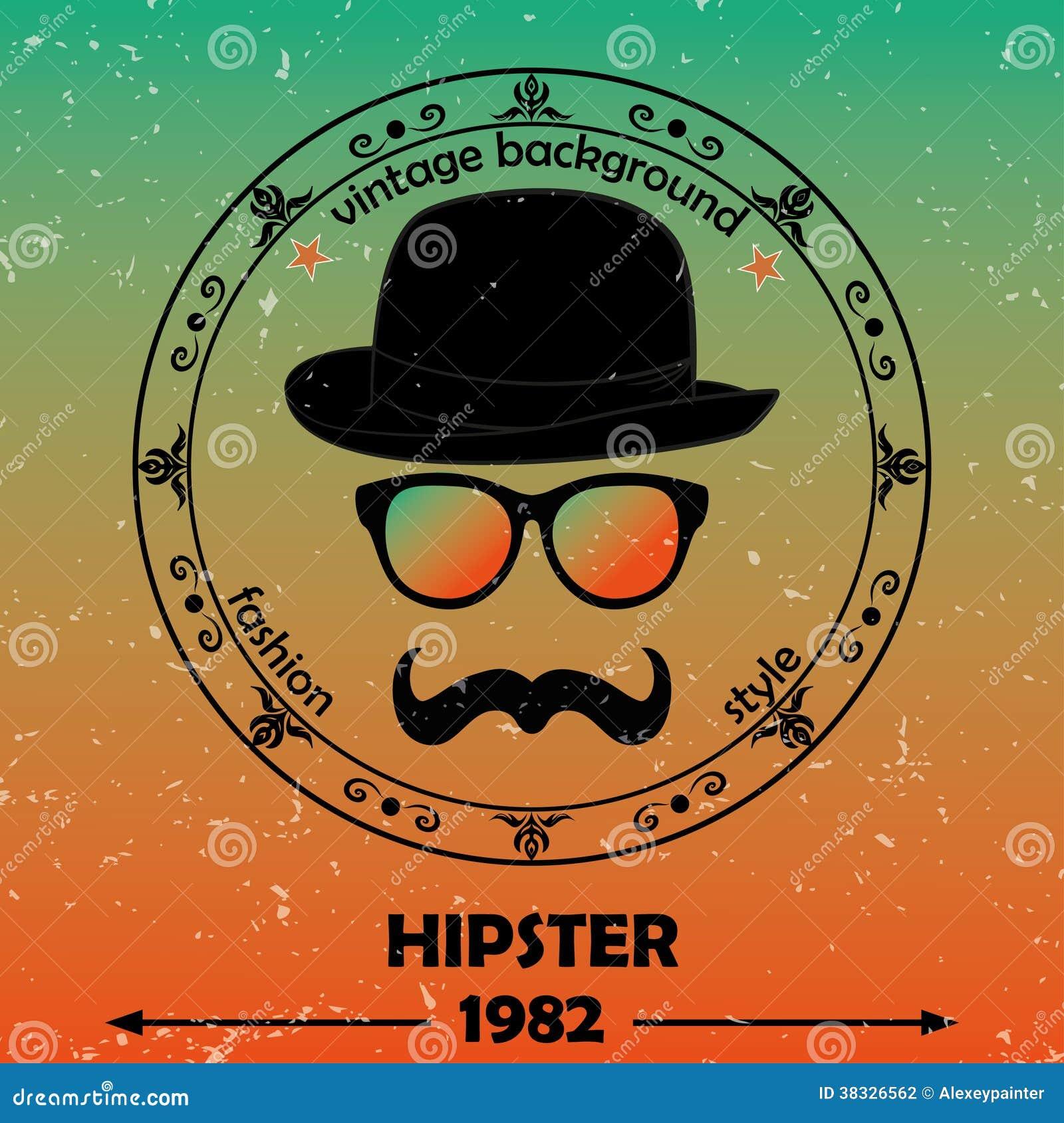 hipster background retro vintage label design hipster theme label