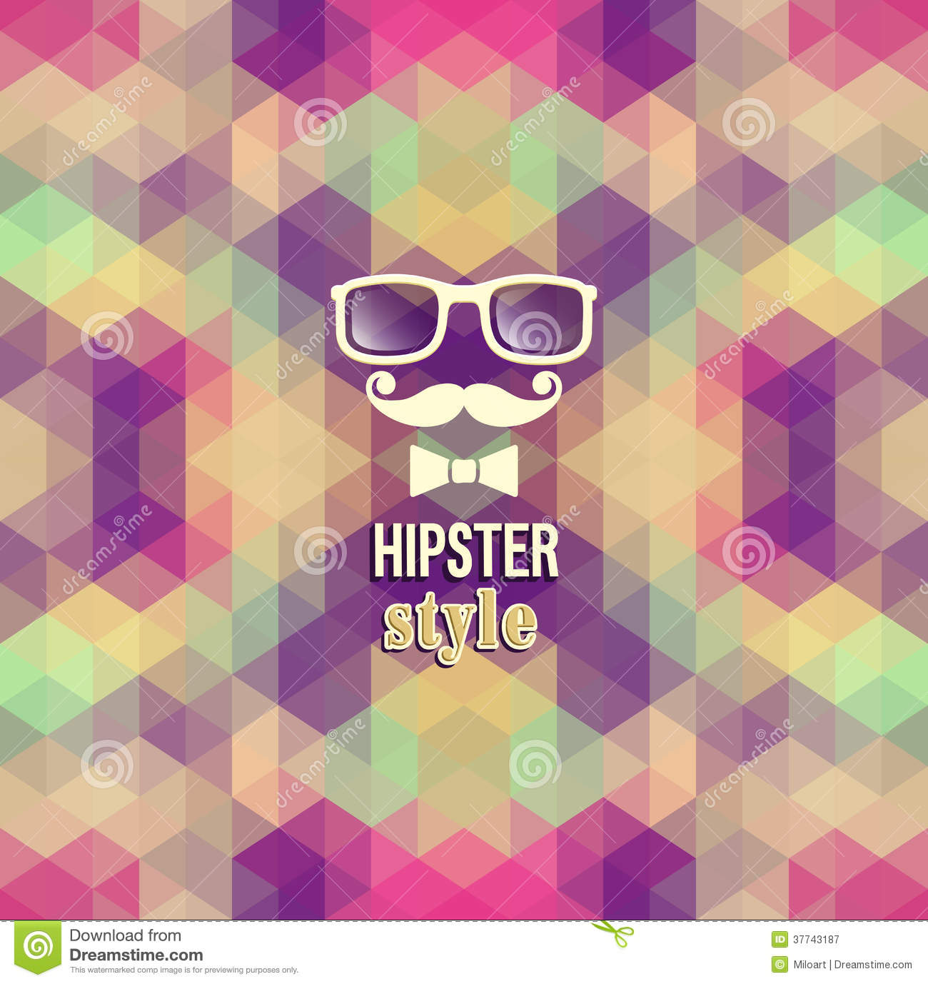 Hipster Background. Royalty Free Stock Photography - Image: 37743187