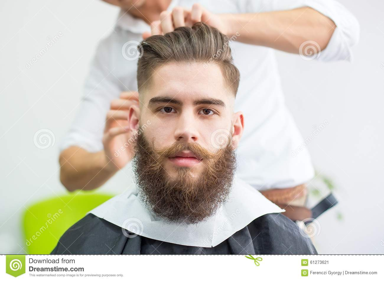 Hipster At The Barber Stock Photo Image 61273621