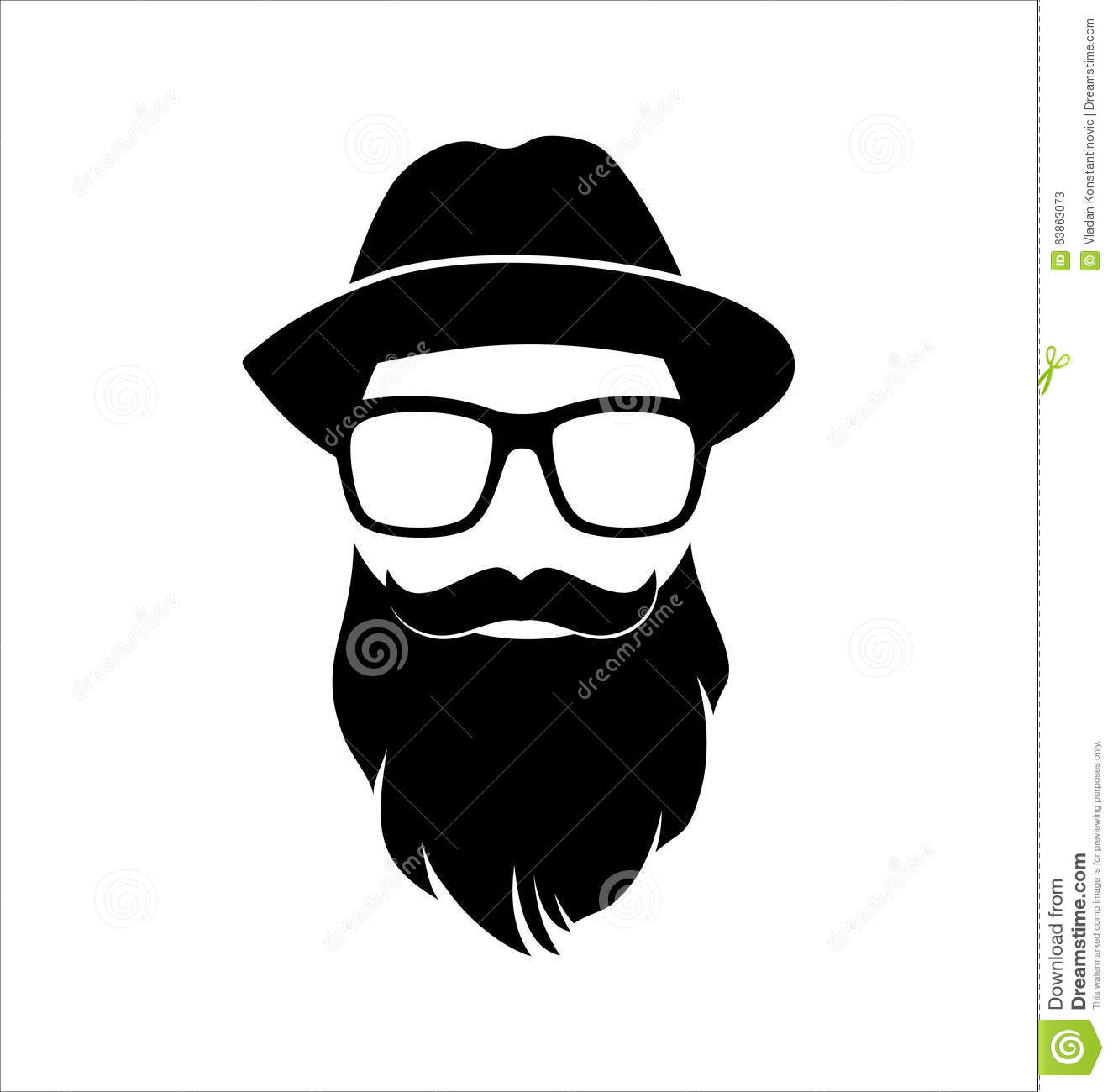 Hipster Black And White. Geek Glasses .Mustaches. Stock ...