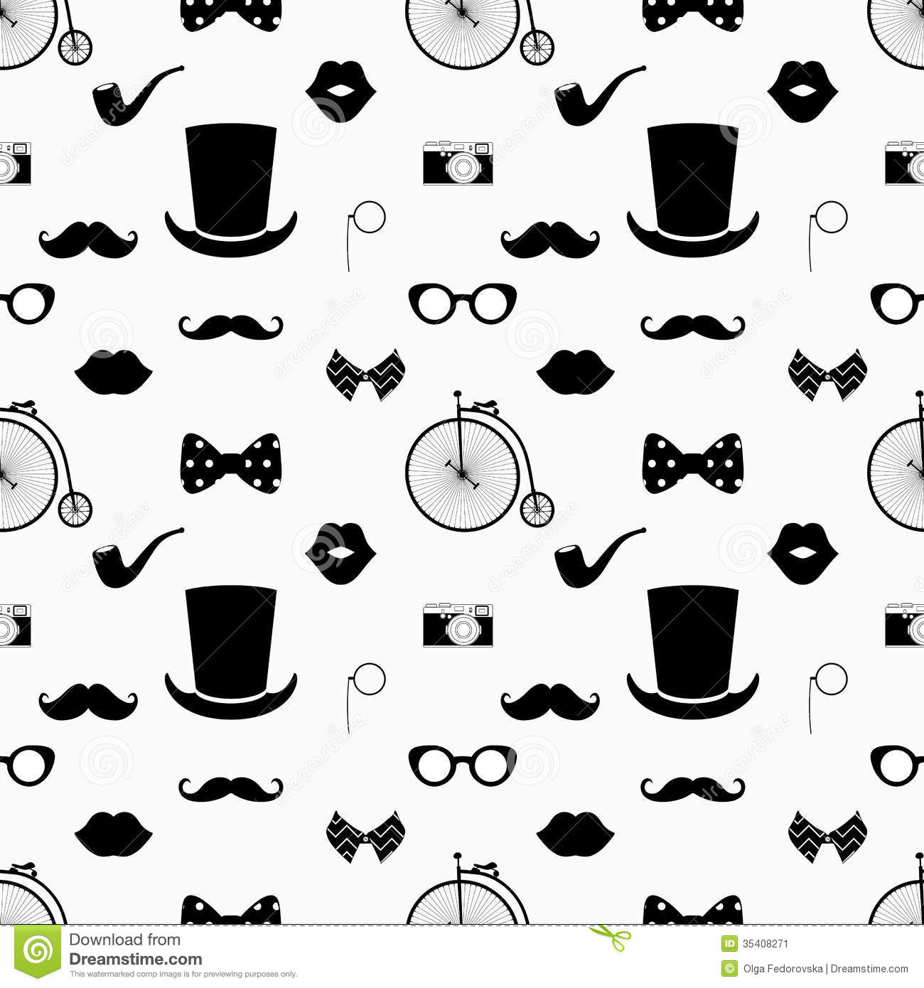Black And White Hipster Pattern Backgrounds
