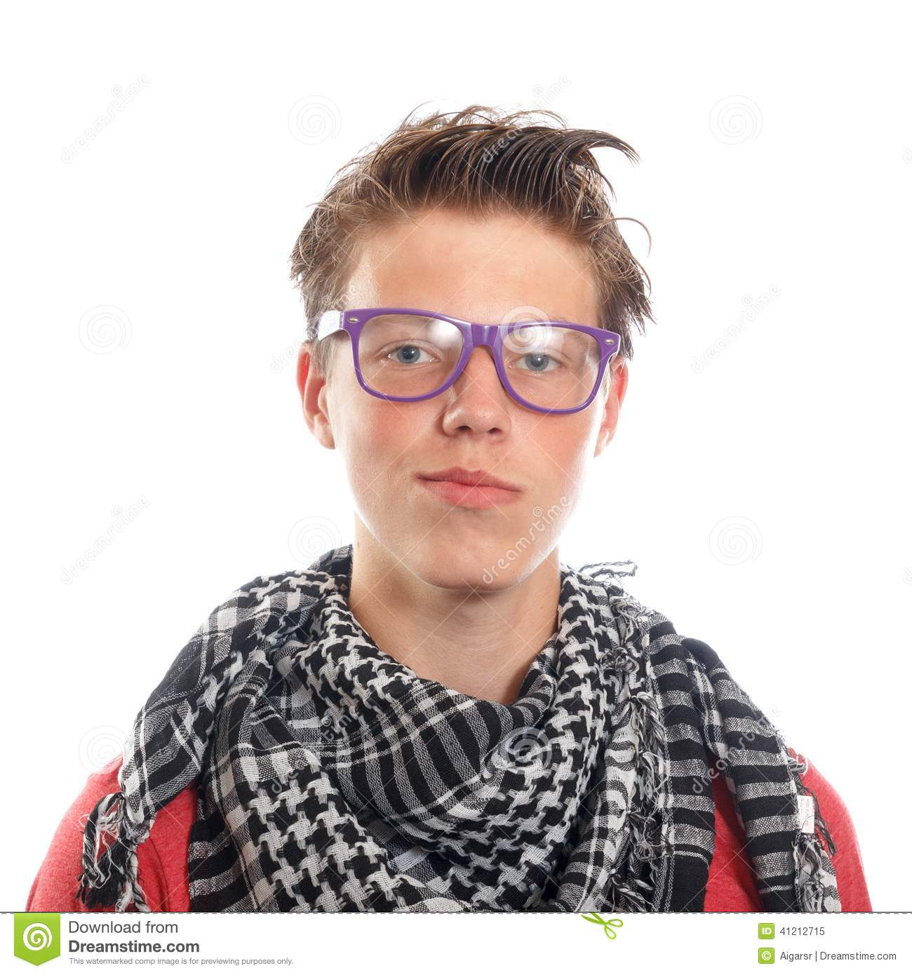 Hipster boy stock image. Image of face, attractive ...