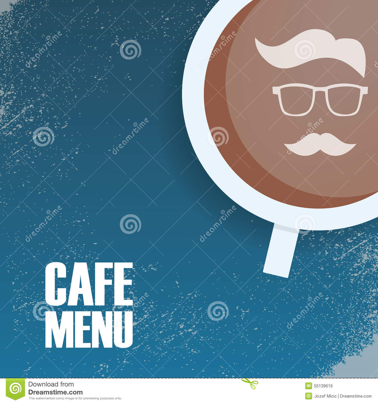 Hipster Cafeteria Menu Template Vintage Style Stock Image Image