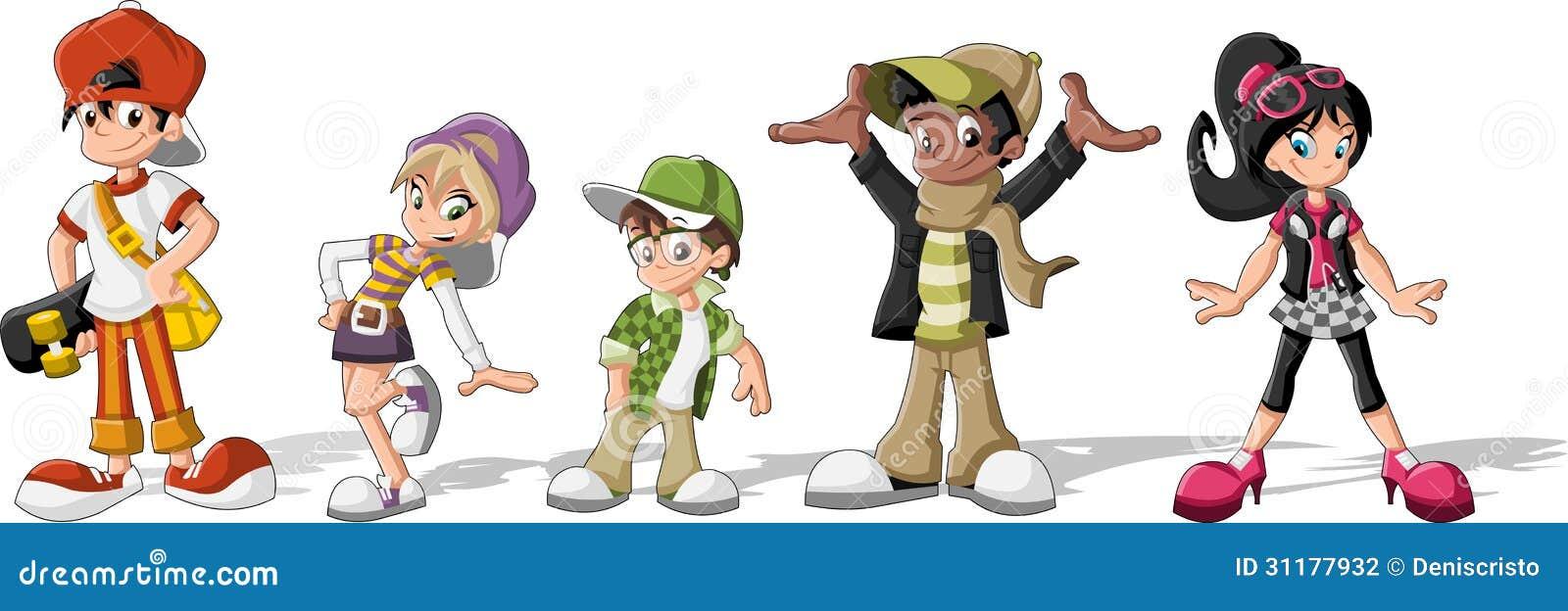 Cartoon Group Of People