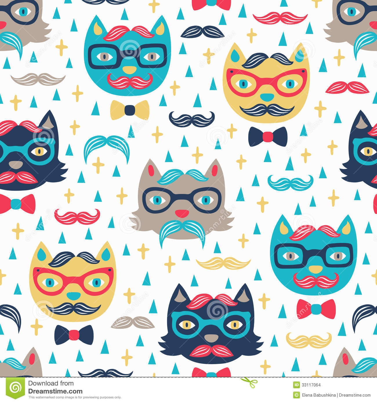 cute cat pattern wallpaper  Tipperary Blankets