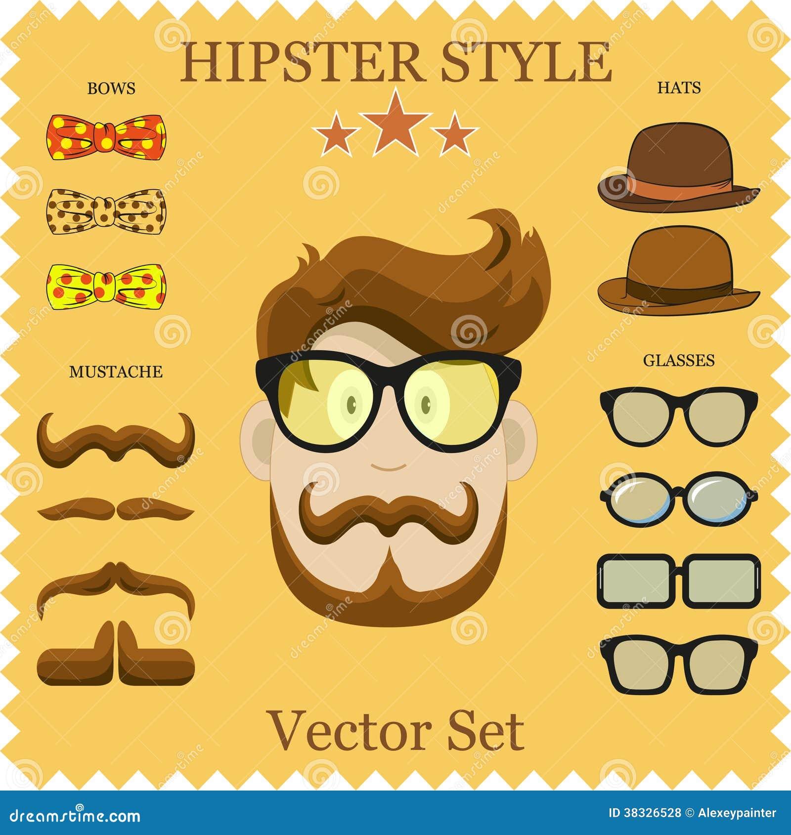 Vector Character Design Illustrator : Hipster character vector illustration with