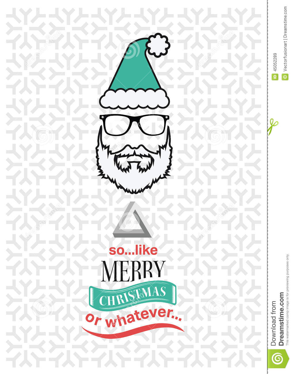 Hipster Christmas Vector With Sarcastic Message Stock Vector ...