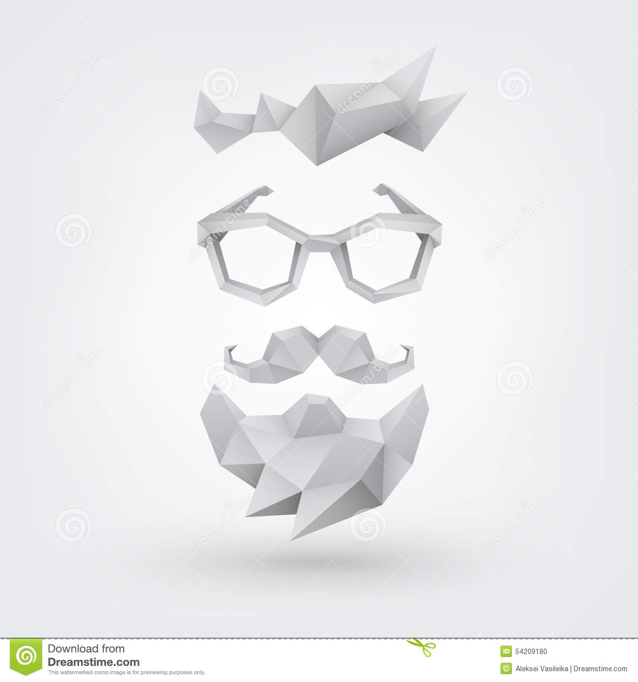 Hipster Concept. Low Poly Style Stock Vector - Image: 54209180