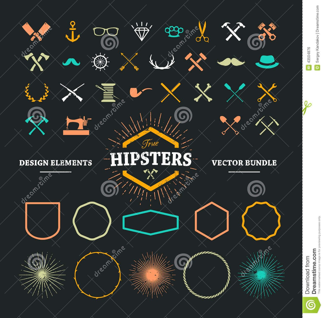 hipster design elements stock vector image of sign
