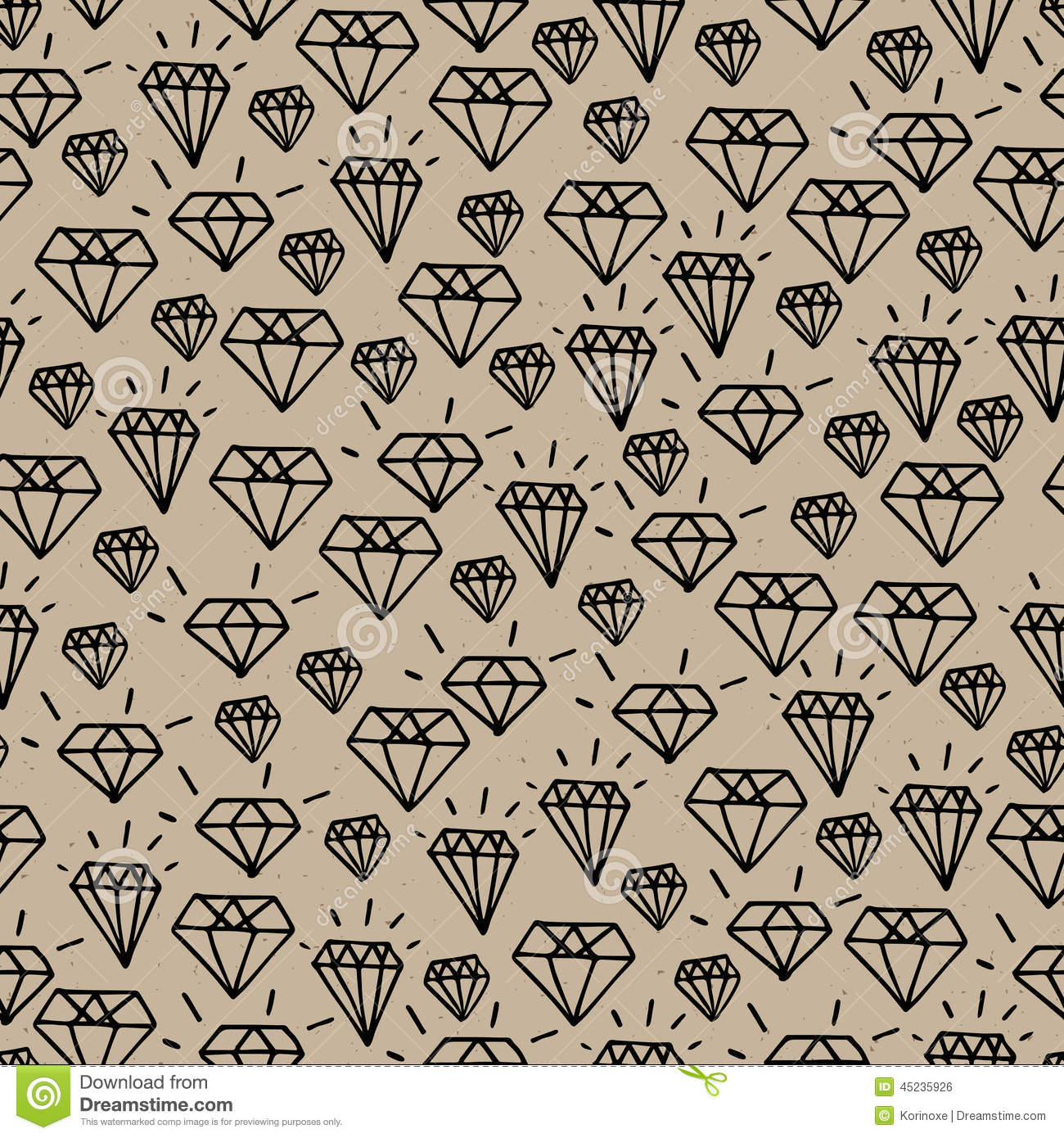 Hipster Diamond Pattern Stock Vector Image 45235926
