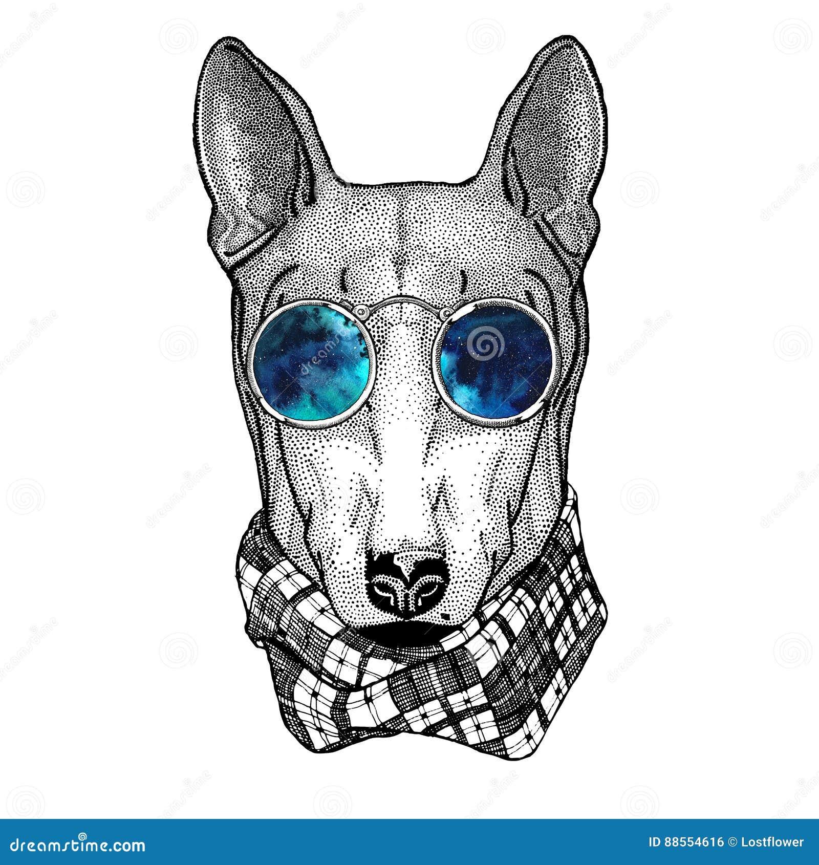 Dog tattoo vector illustration 8367332 for Tattoo style logo design