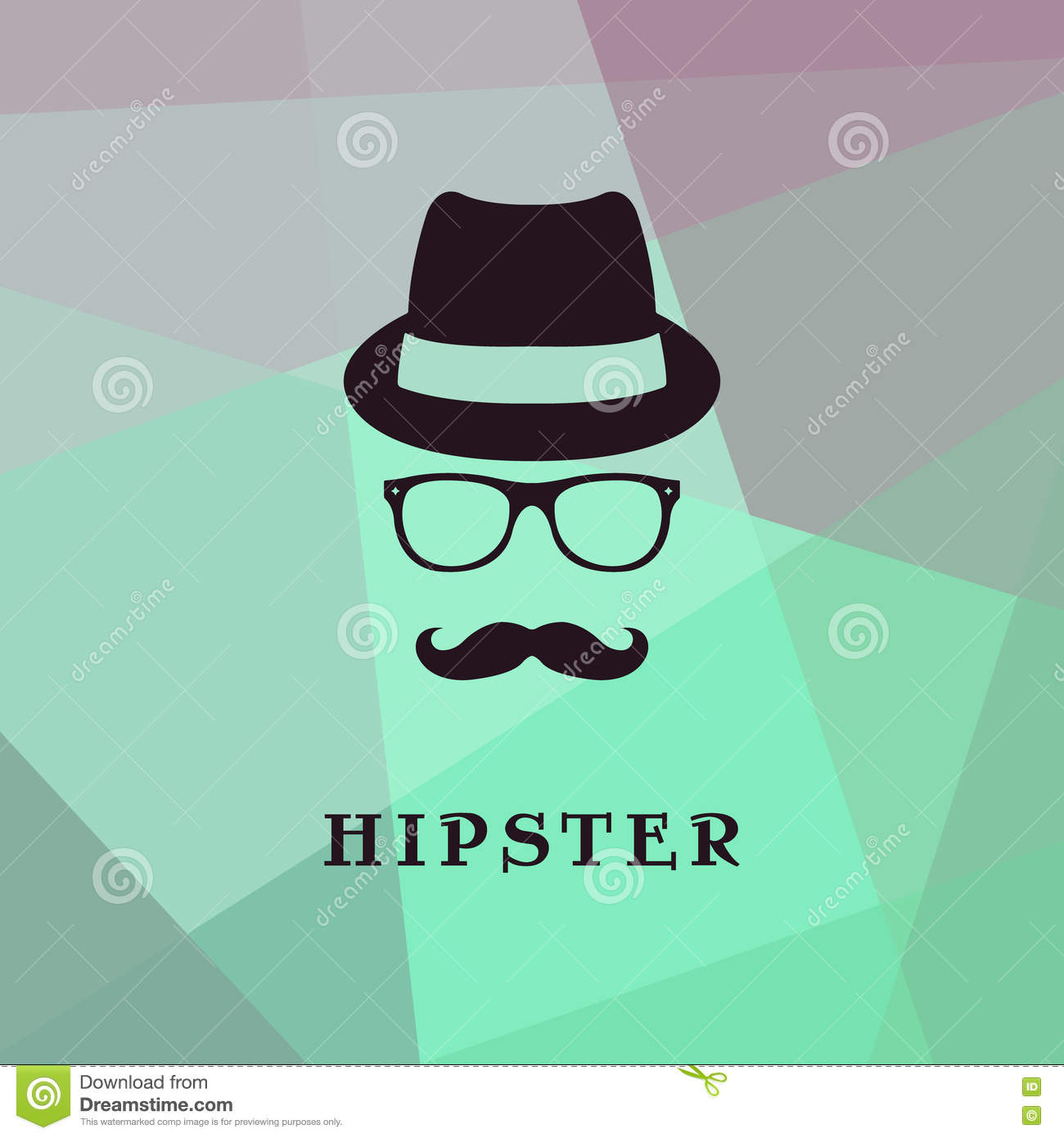 85399c849 Hipster face logo. stock vector. Illustration of background - 75749804