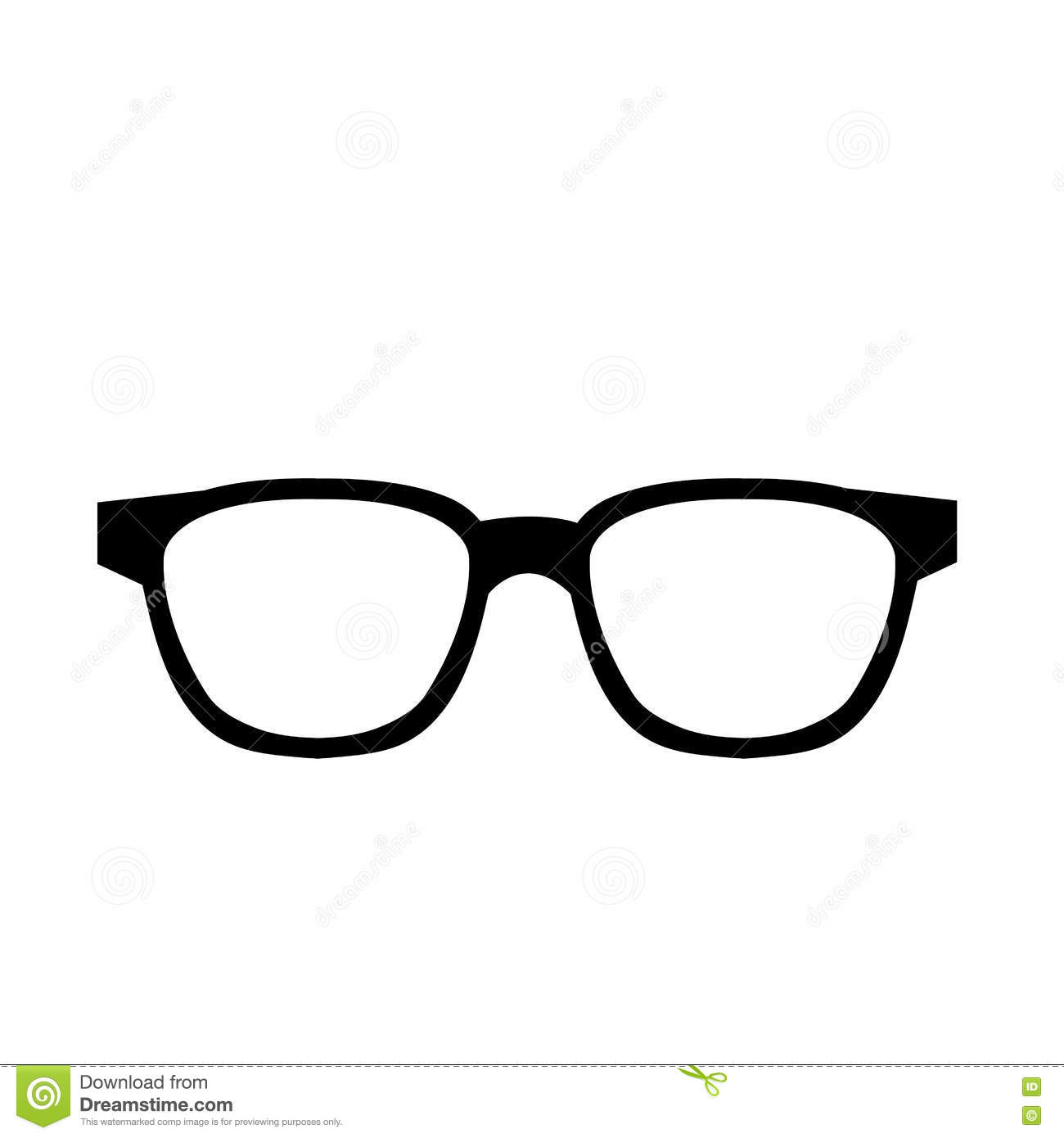 96b792dc2b Black and white hipster man eyeglasses over isolated background