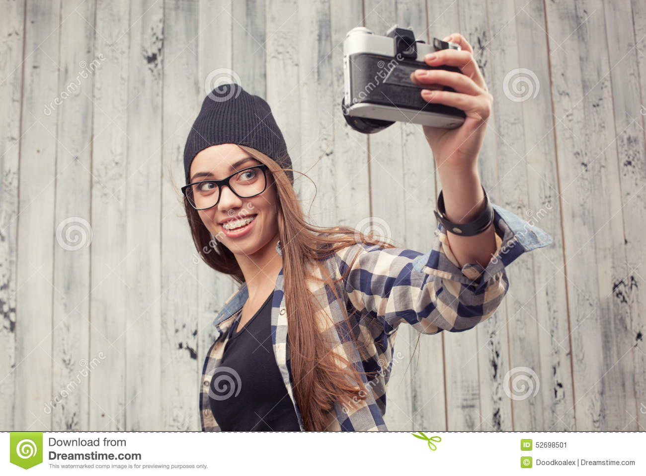 Can recommend Girl with beanie and glasses porn