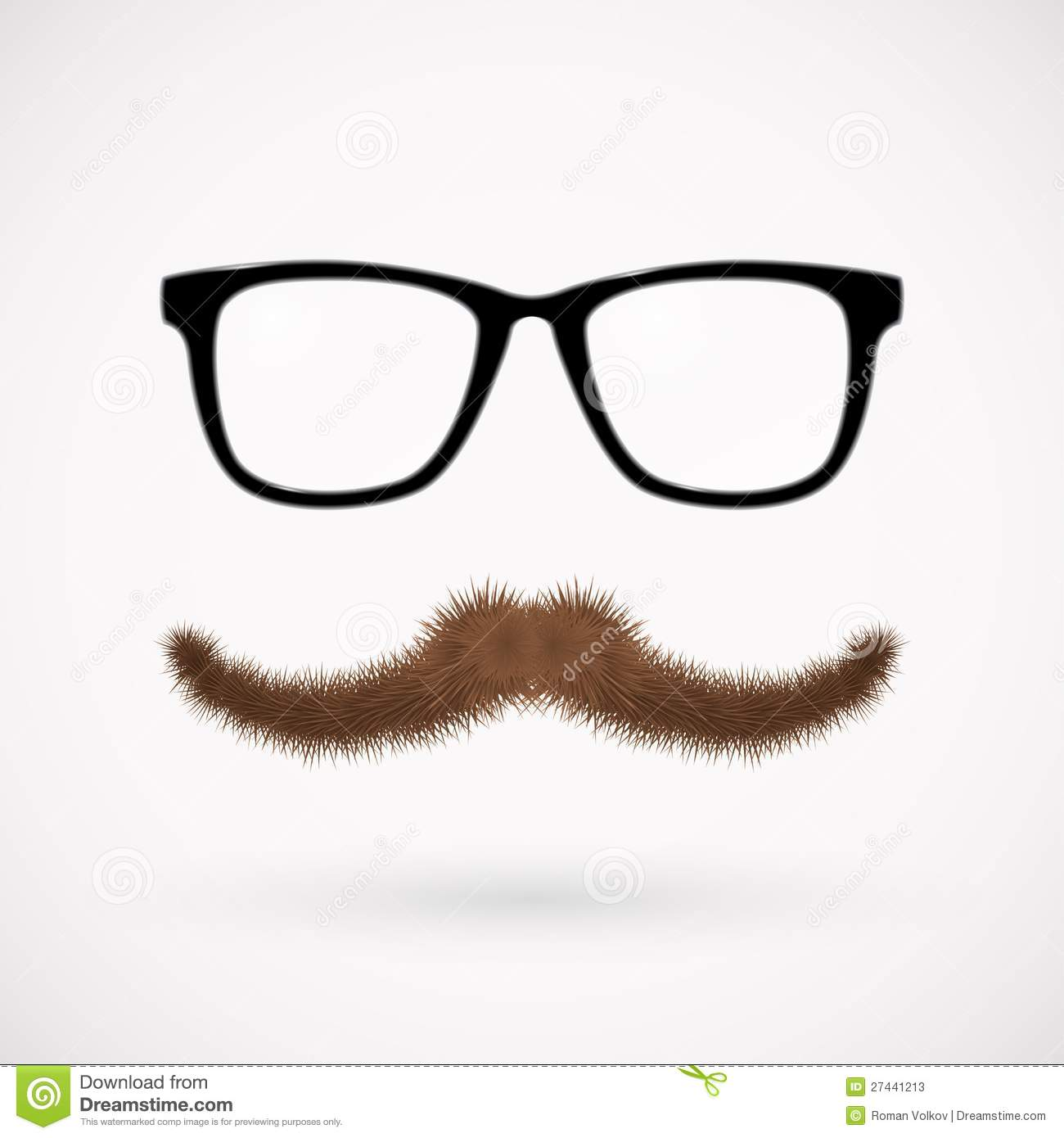 Hipster Glasses And Mustache Stock Photos - Image: 27441213