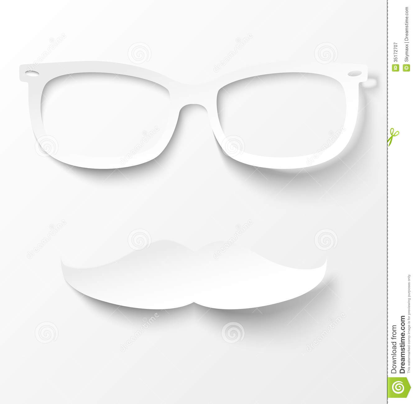 glasses and mustache vector illustration royalty