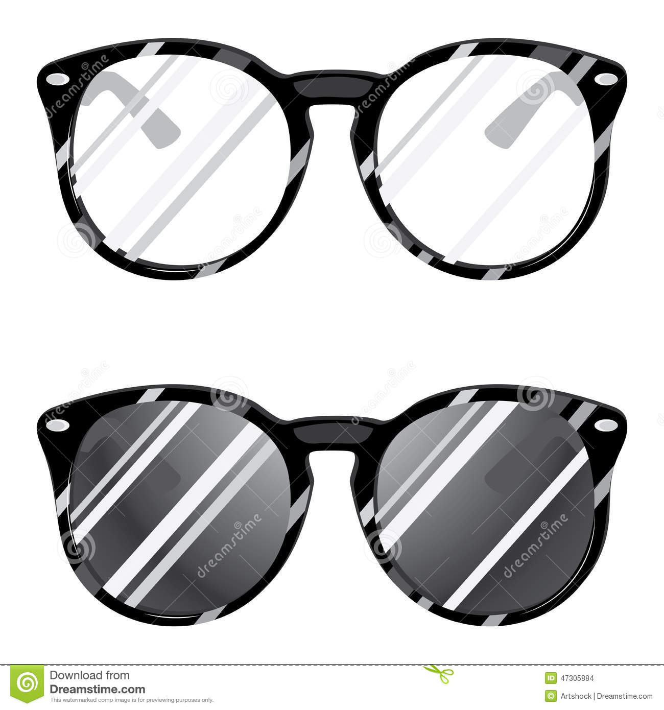 hipster-glasses-set-sunglasses-eyegalsses-white-background-47305884 ...