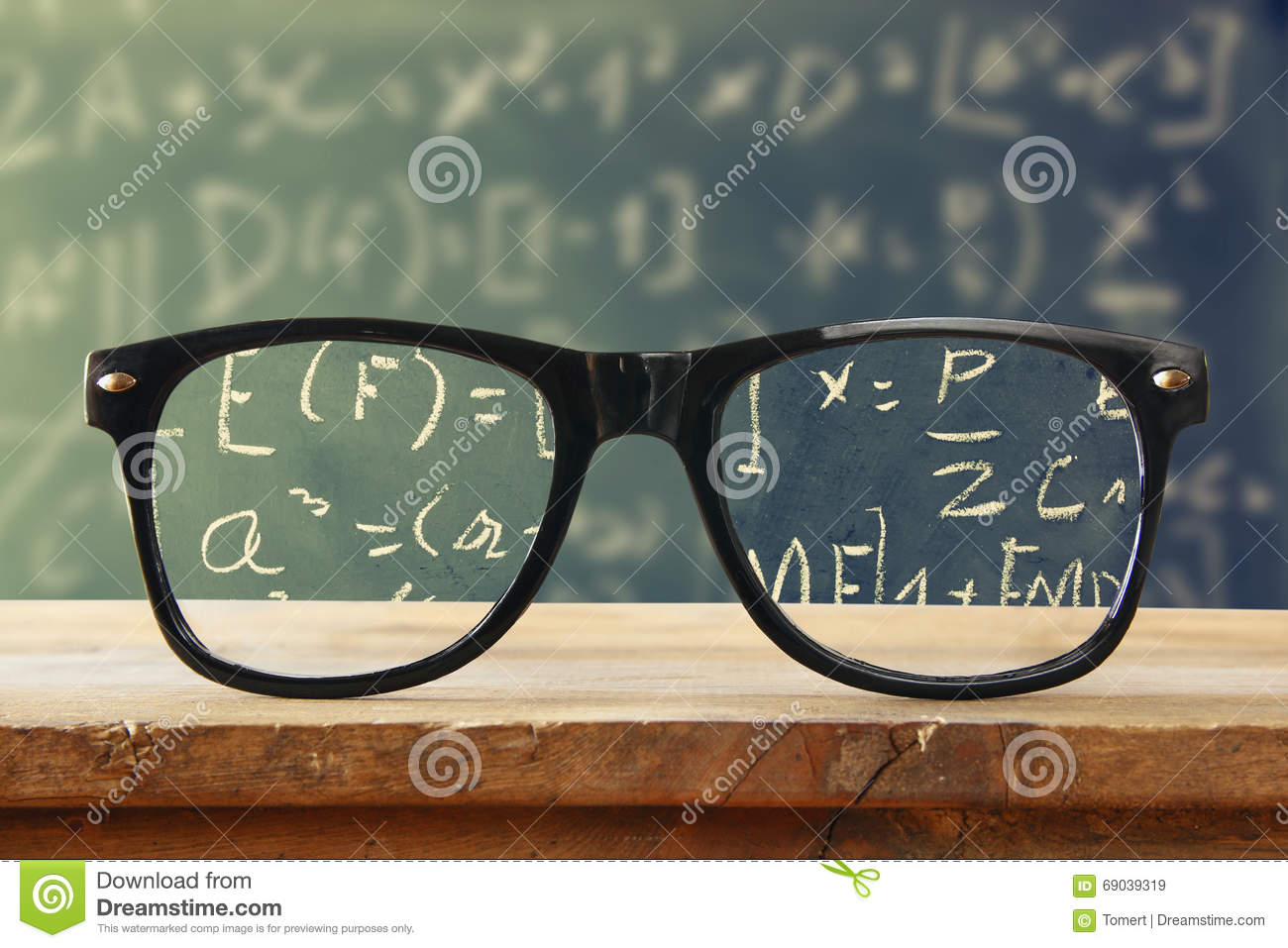 Hipster Glasses On A Wooden Rustic Table In Front