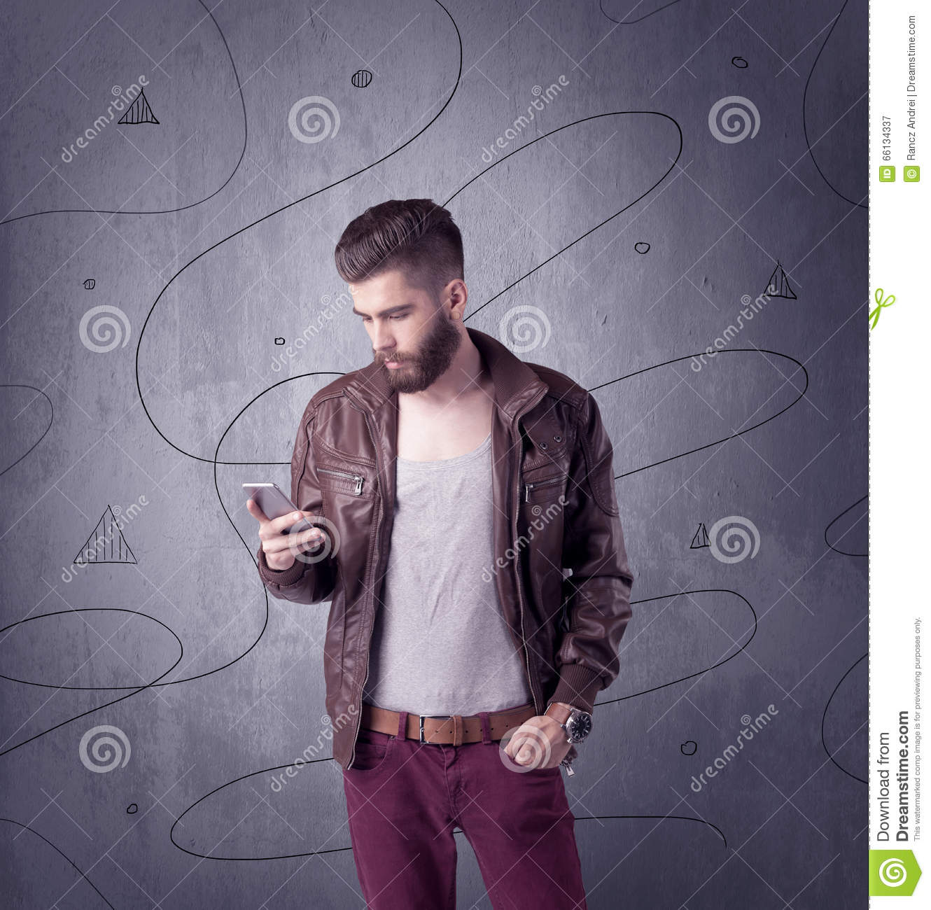 Hipster Guy With Beard And Vintage Camera Stock Image ...