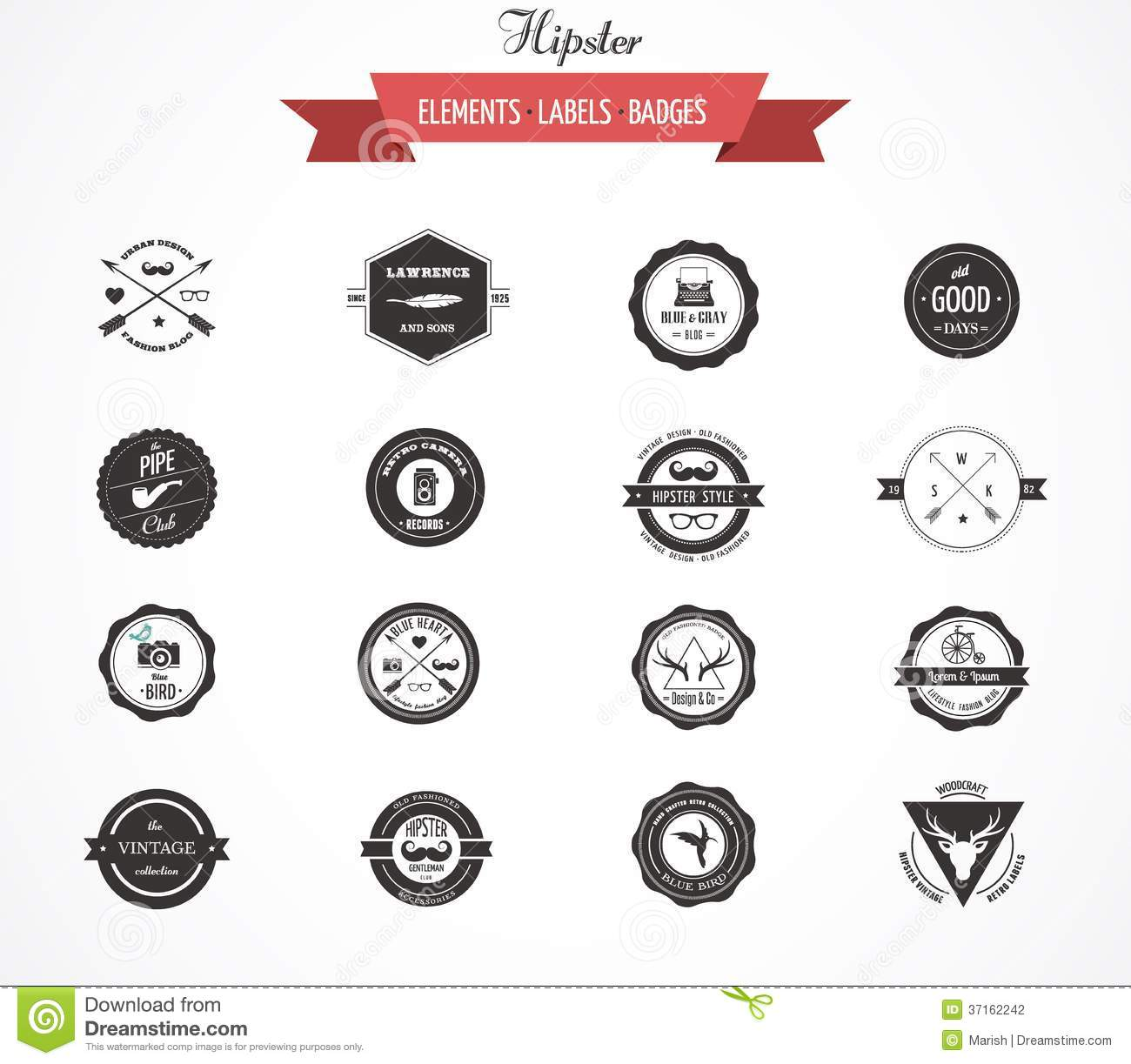 Hipster Lables, Badges And Elements Stock Photography ...
