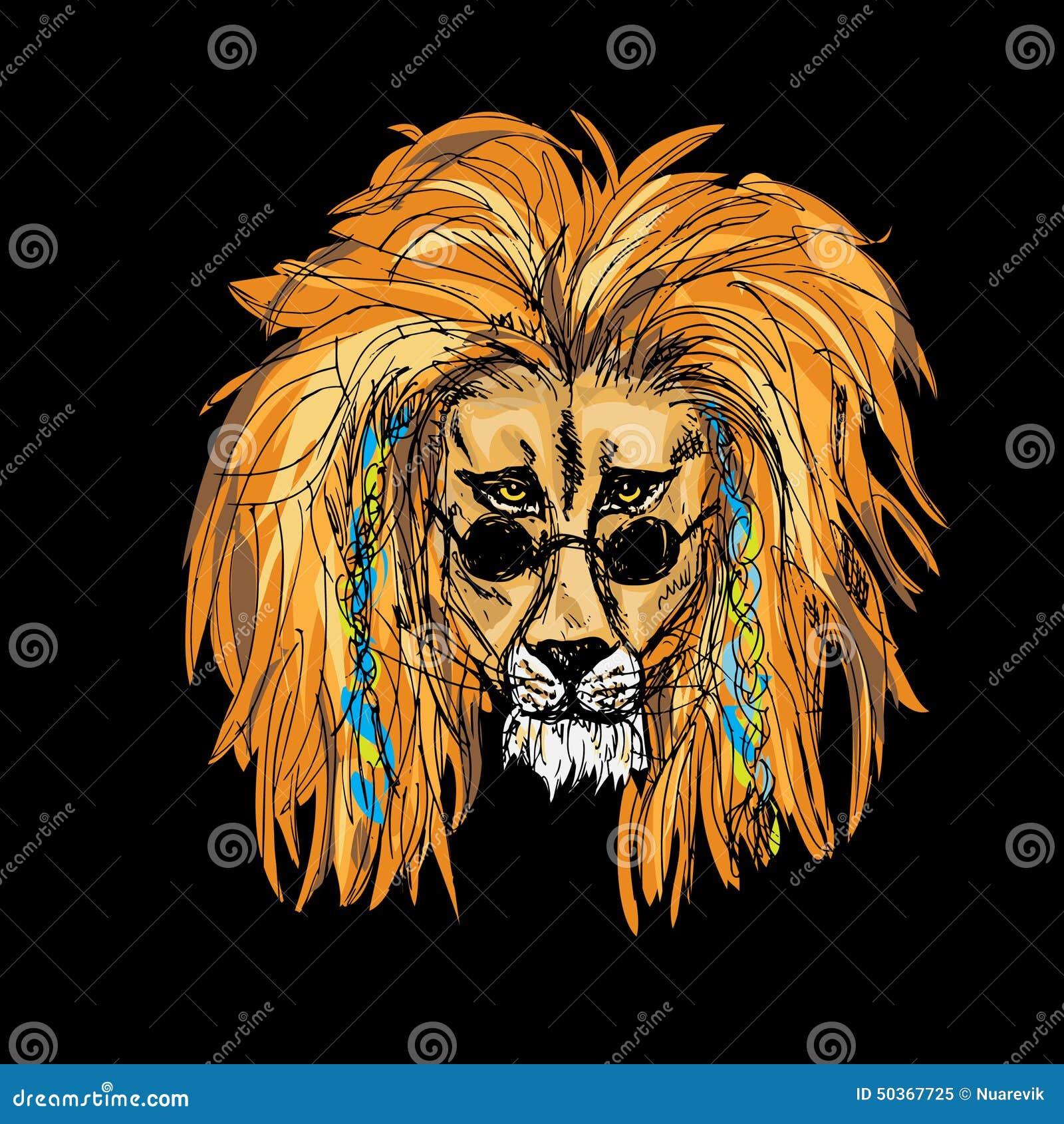 background black color hipster lion