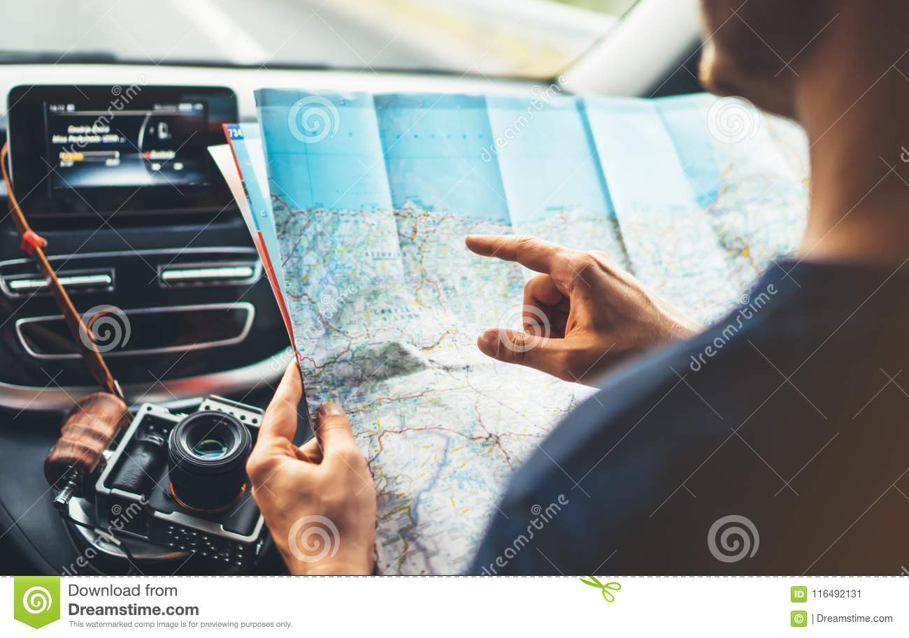 Hipster Man Looking And Point Finger On Location Navigation ... on navigation in car, water in car, time in car, entertainment in car,