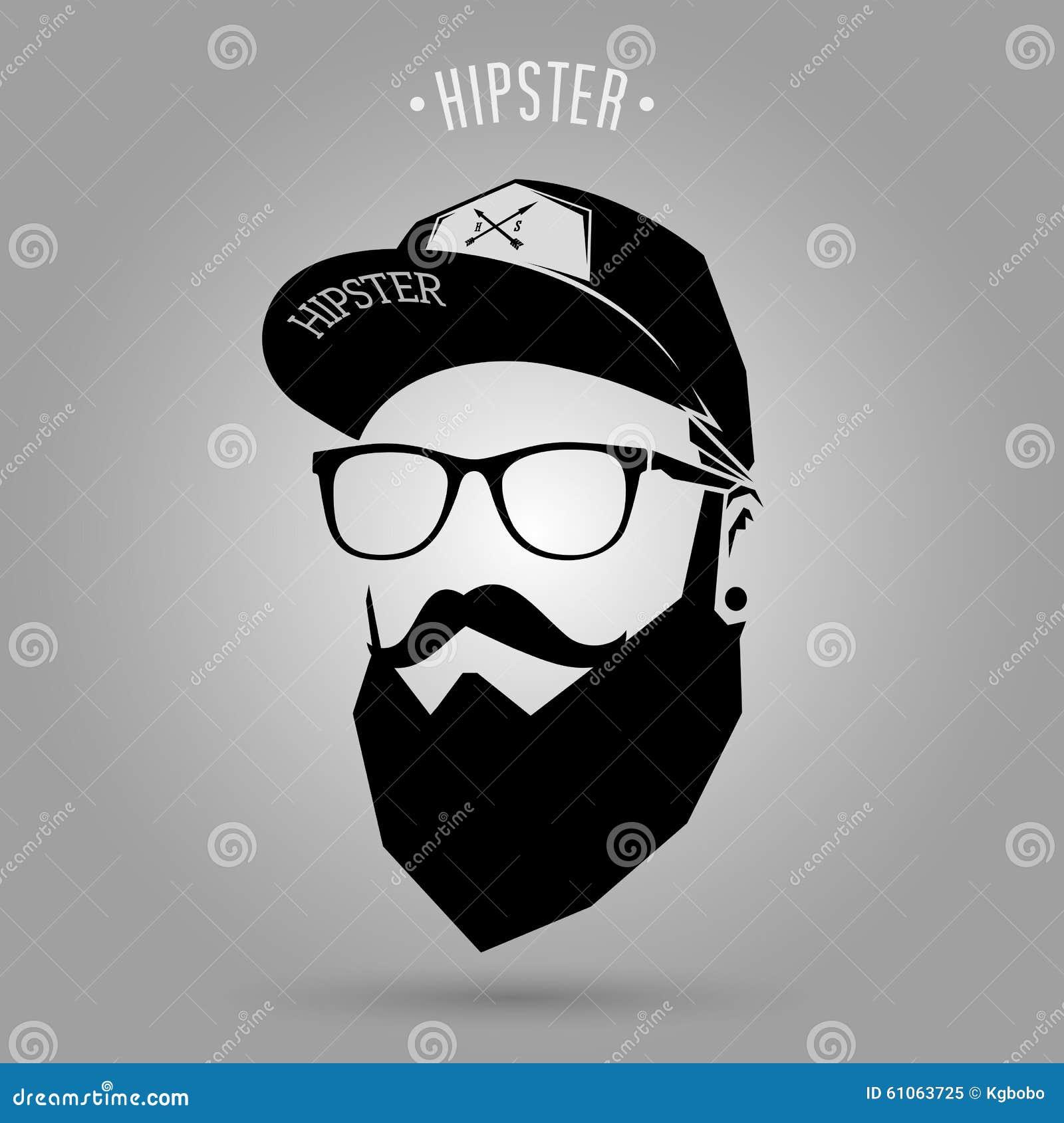 Hipster Men Cap Stock Vector - Image: 61063725