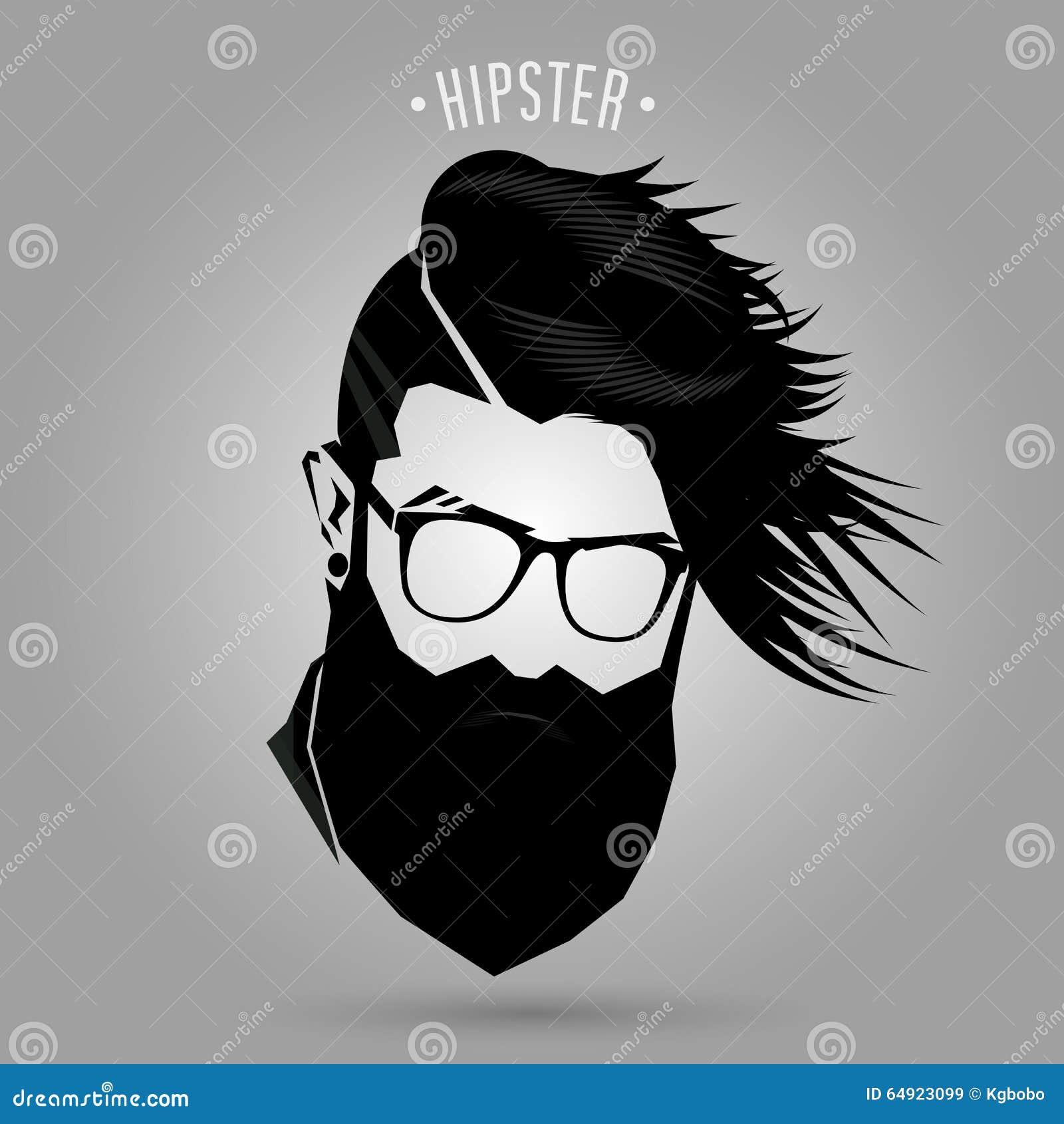 Hipster Men Fashion Sign Stock Vector Illustration Of Hair 64923099
