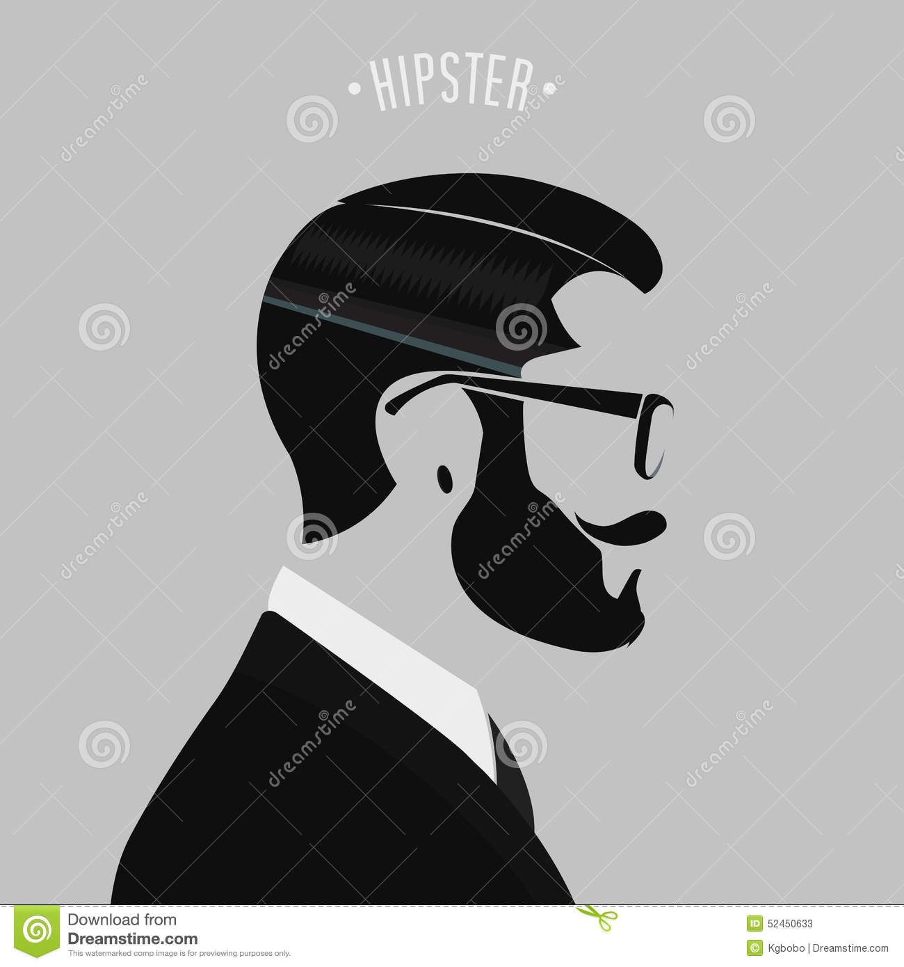 Hipster Men Fashion Stock Vector Image 52450633