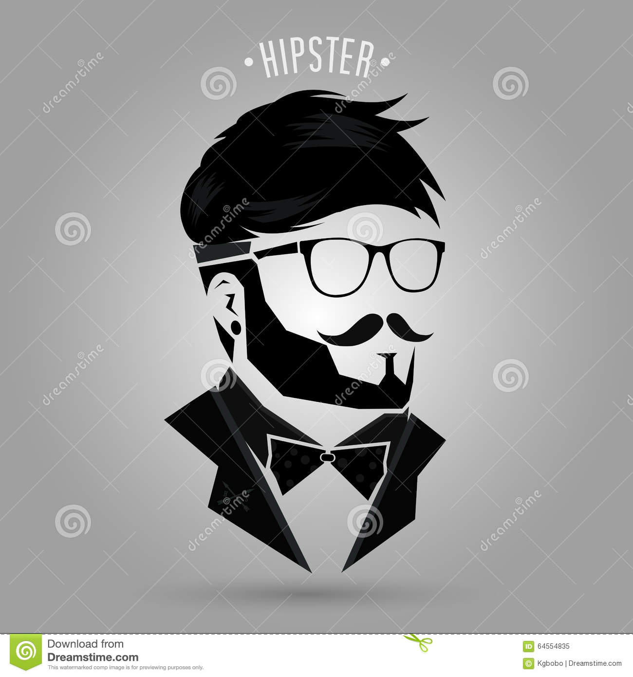 Hipster Men Style 04 Stock Vector Illustration Of