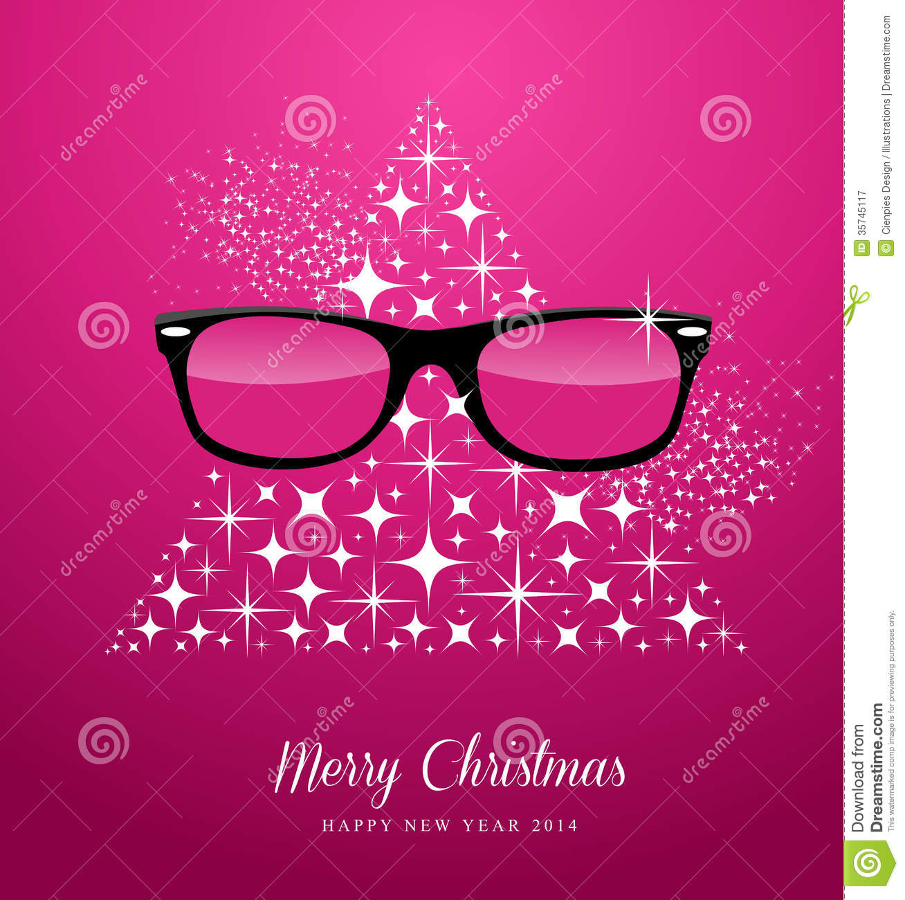 Hipster Merry Christmas And Happy New Year Greetin Royalty
