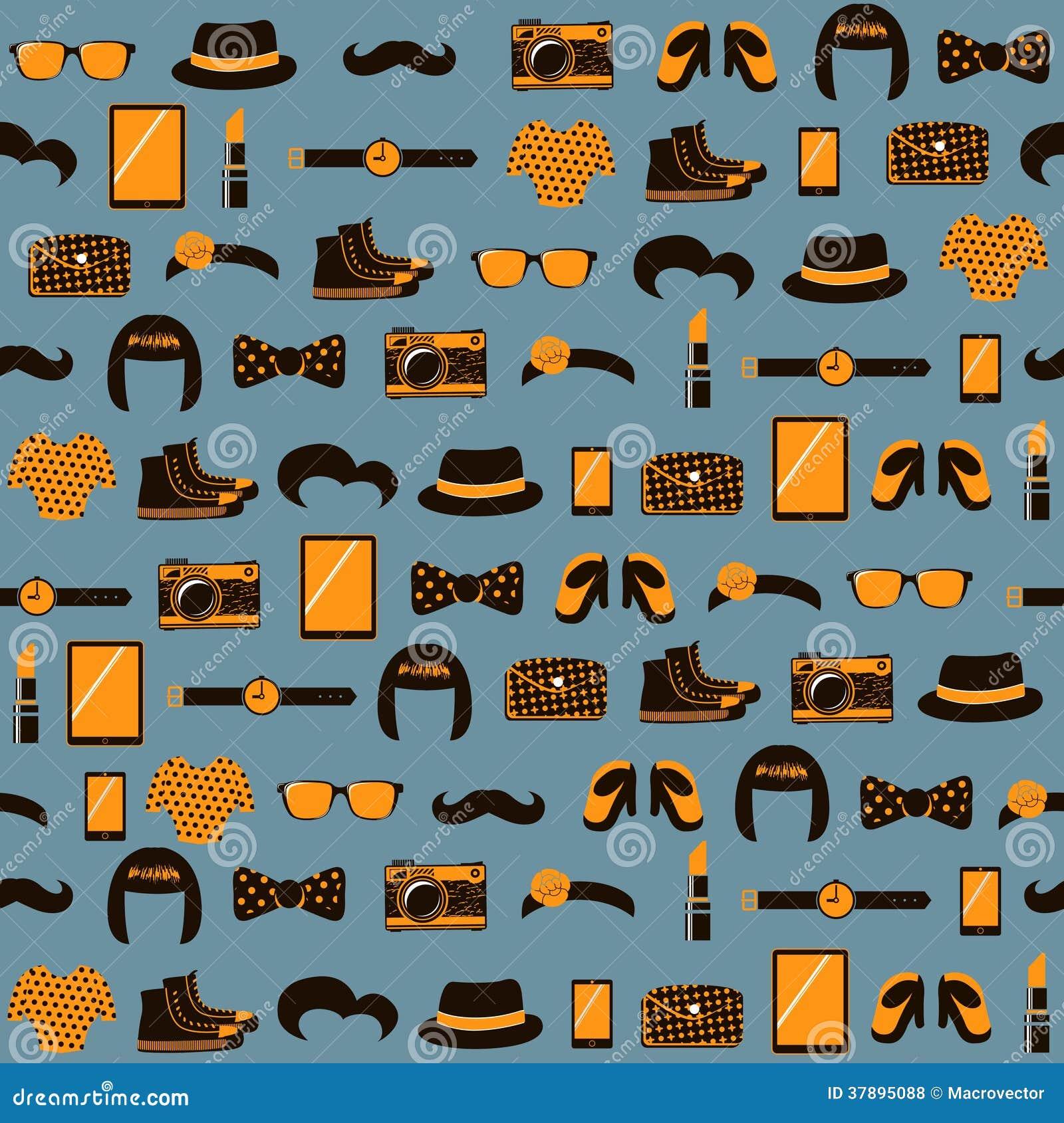 Hipster naadloos patroon