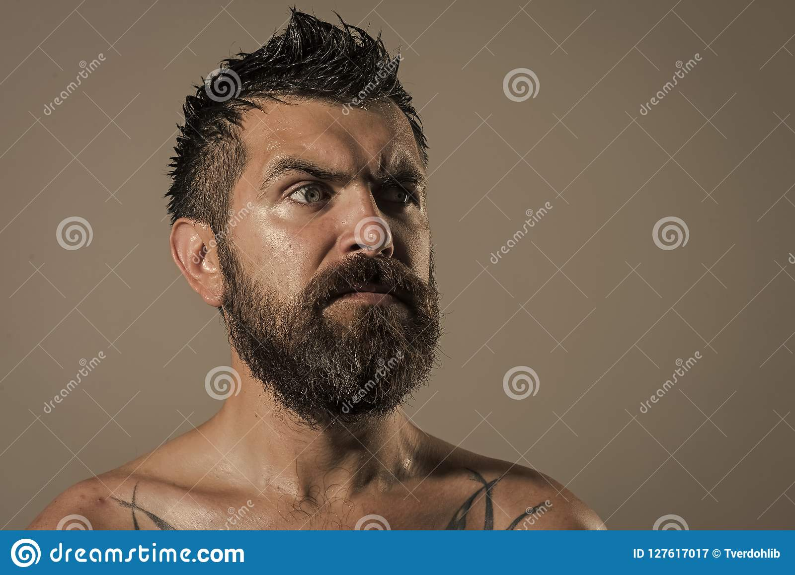 Serious face guy naked pic 862
